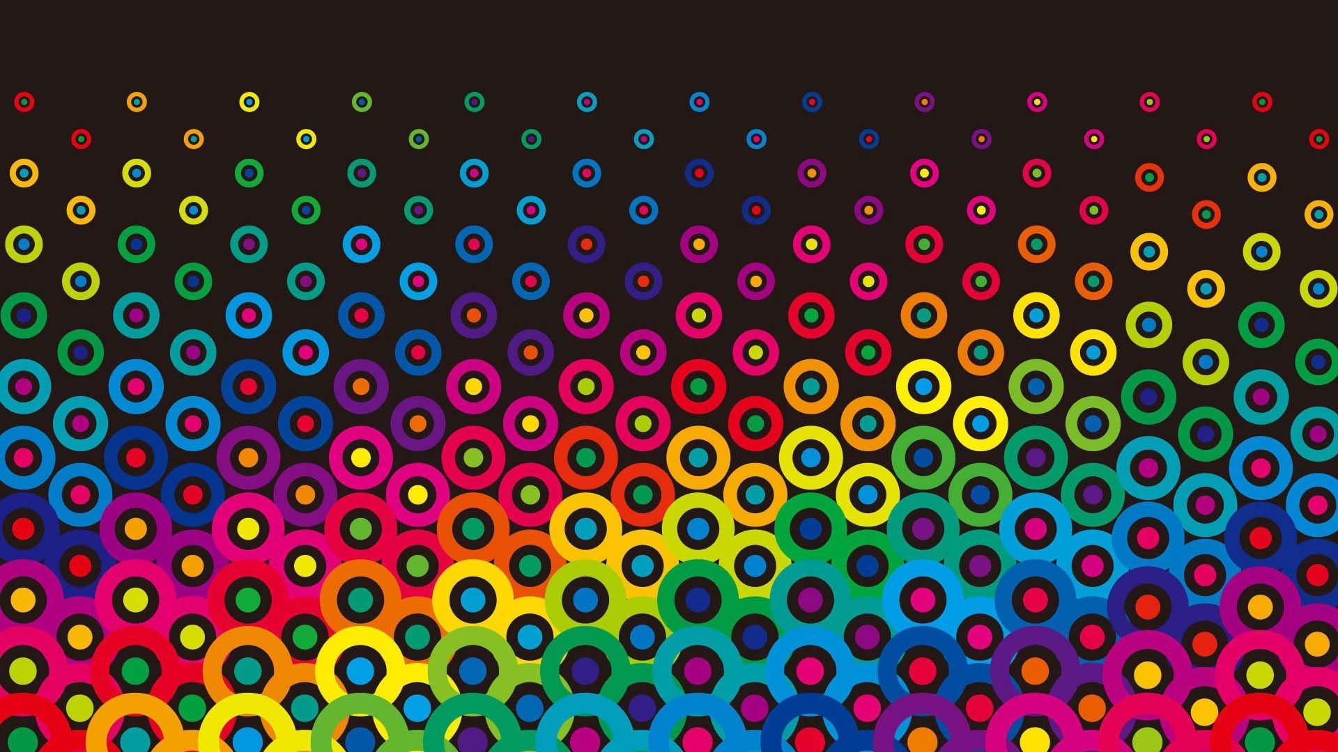 Res: 1920x1080, Colorful Retro Circles | HD 3D and Abstract Wallpaper Free Download ...