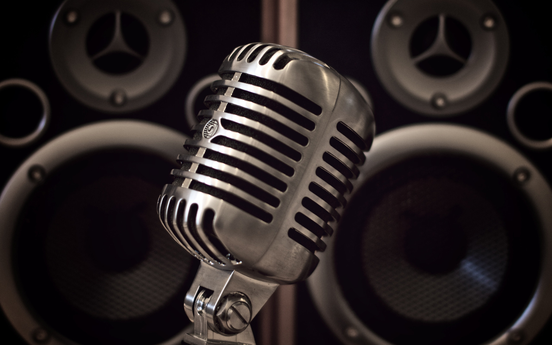 Res: 1920x1200, Drawn music retro microphone #15