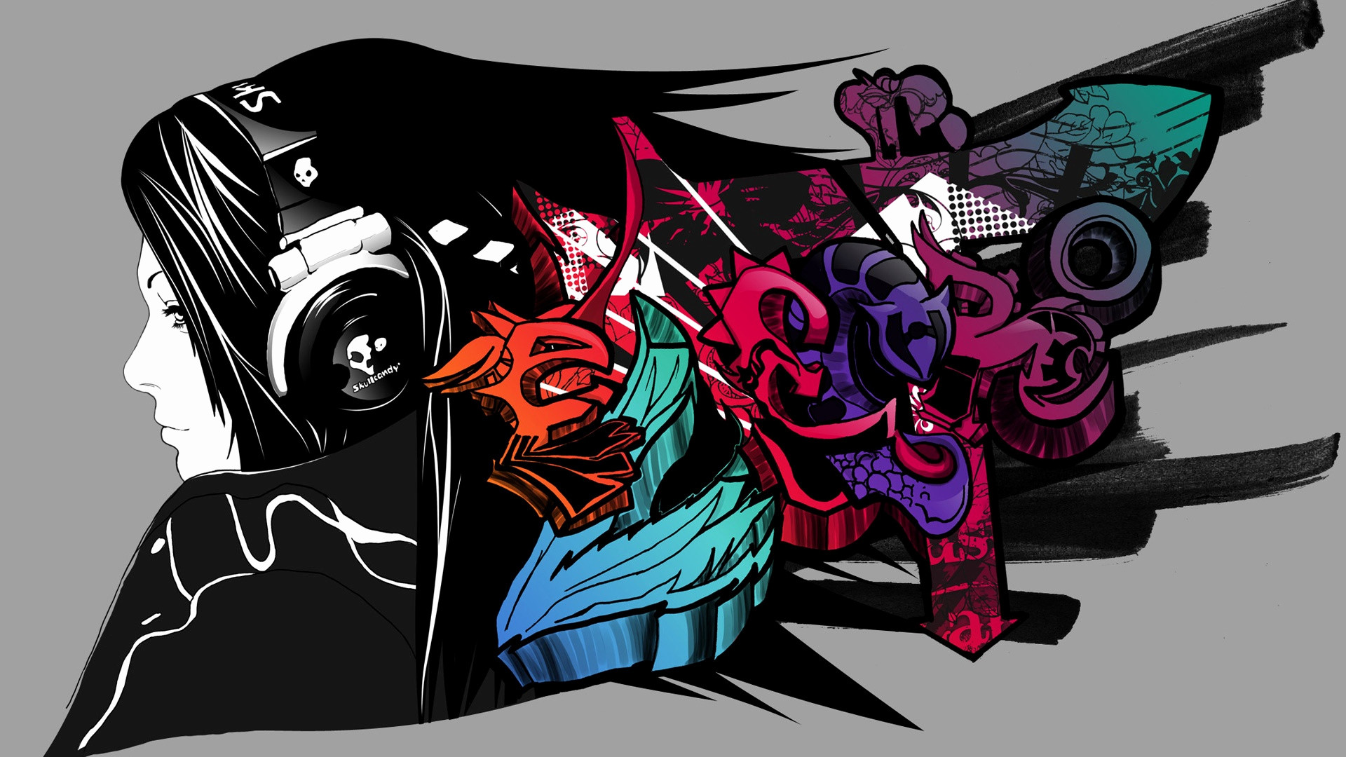 Res: 1920x1080, ... Music Graffiti Wallpaper Best Of Free Graffiti Art Music Wallpaper High  Definition Long Wallpapers ...