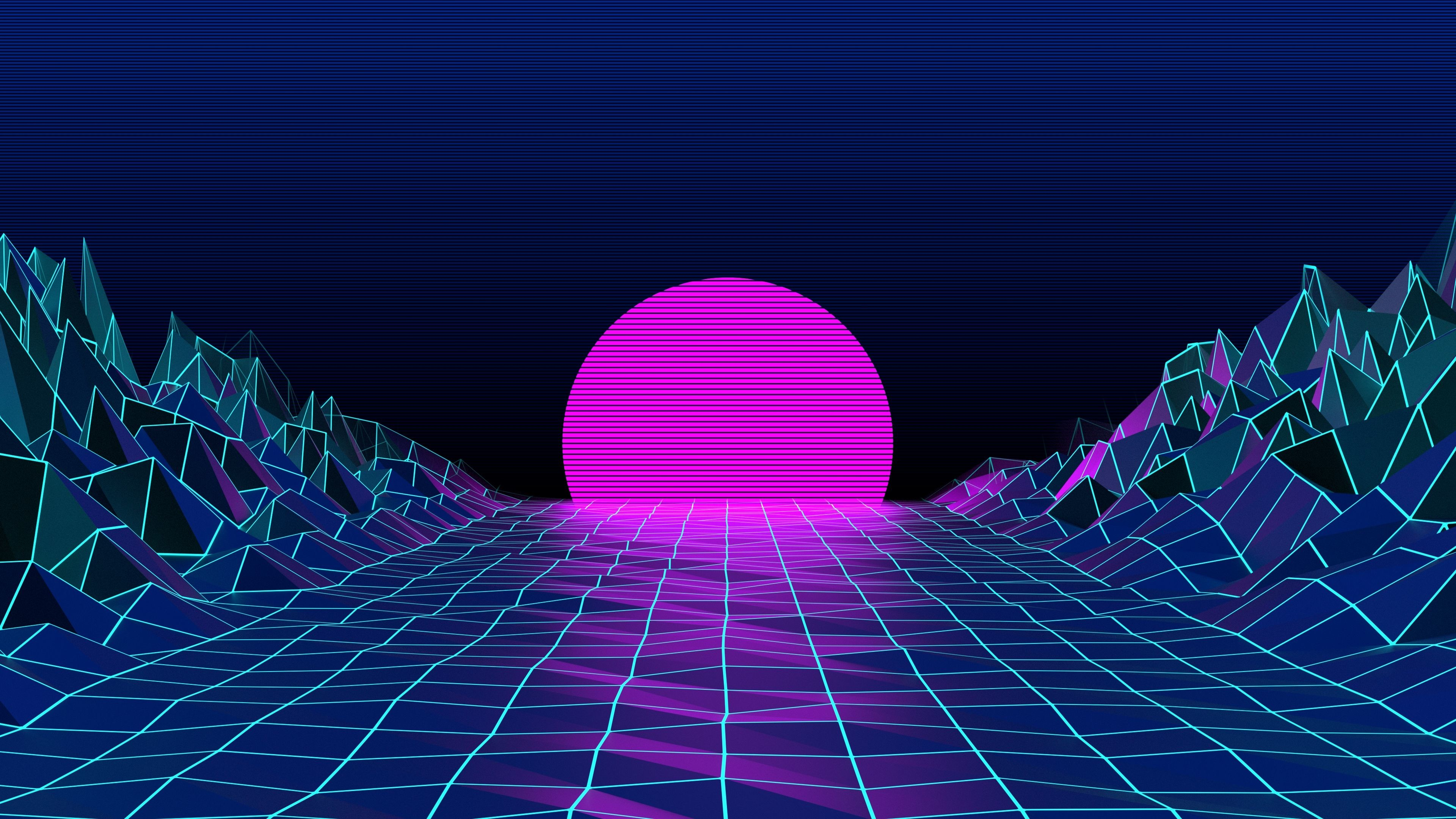 Res: 3840x2160, [] [1920x1080] Retro 80's wallpaper /r/wallpapers