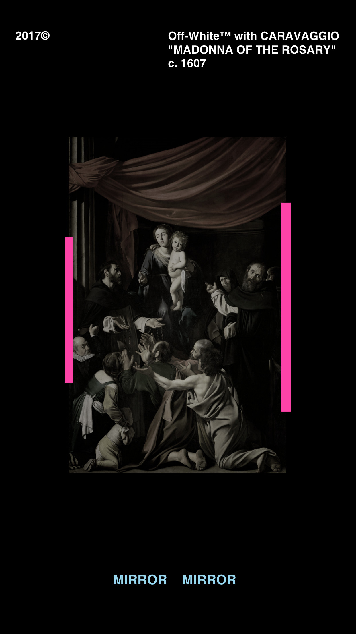 Res: 1242x2208, Off-White Caravaggio Wallpaper http://ift.tt/2AlPme0
