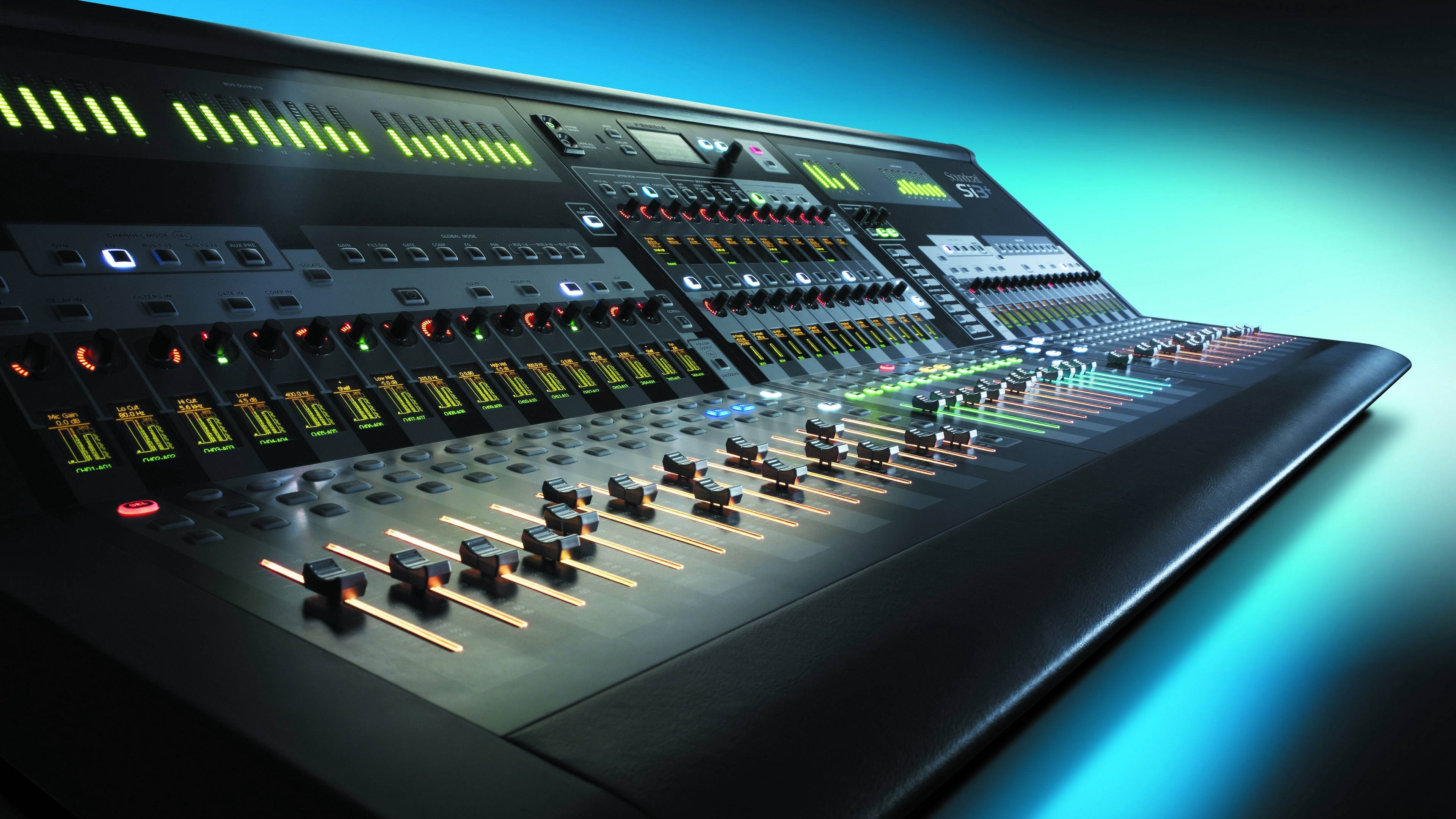 Res: 3840x2160,  Wallpaper control, mixer, audio, equalizer, music