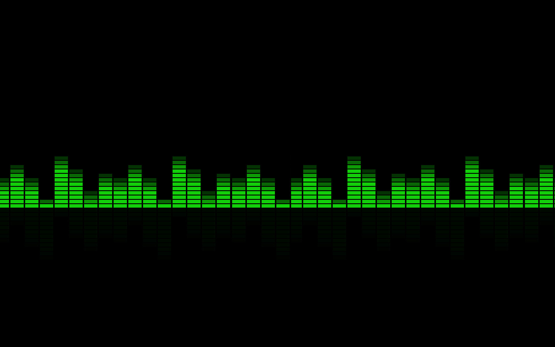 Res: 1920x1200, Equalizer Green Wallpaper