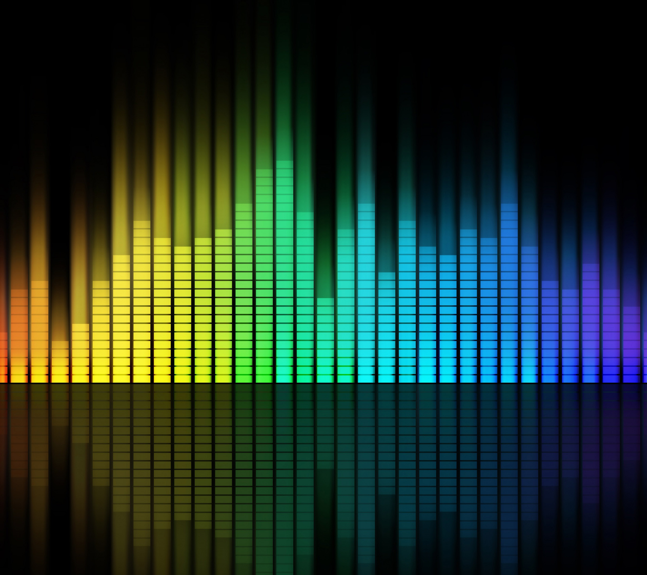 Res: 2160x1920, Colouring Music Equalizer Wallpapers for the iPhone 4