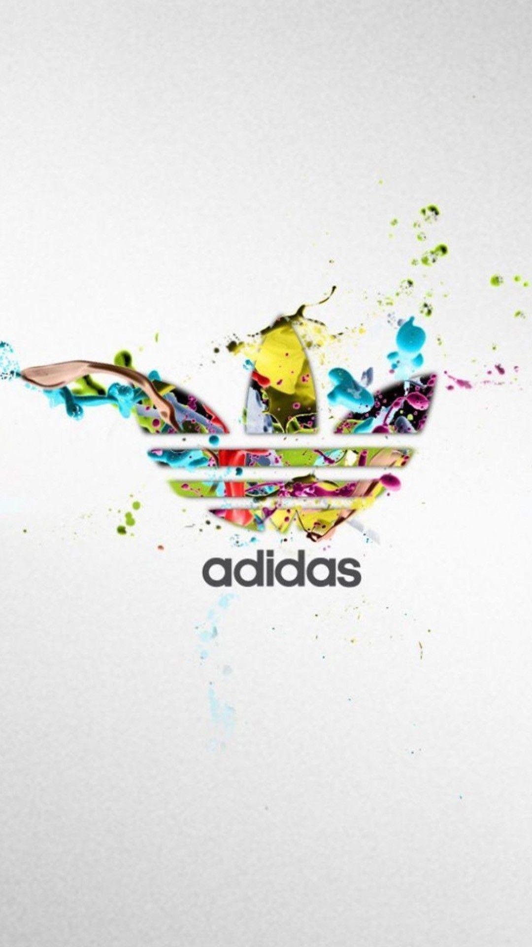 Res: 1080x1920, Sports iPhone 6 Plus Wallpapers - Adidas Colorful Logo Splash iPhone 6 Plus  HD Wallpaper