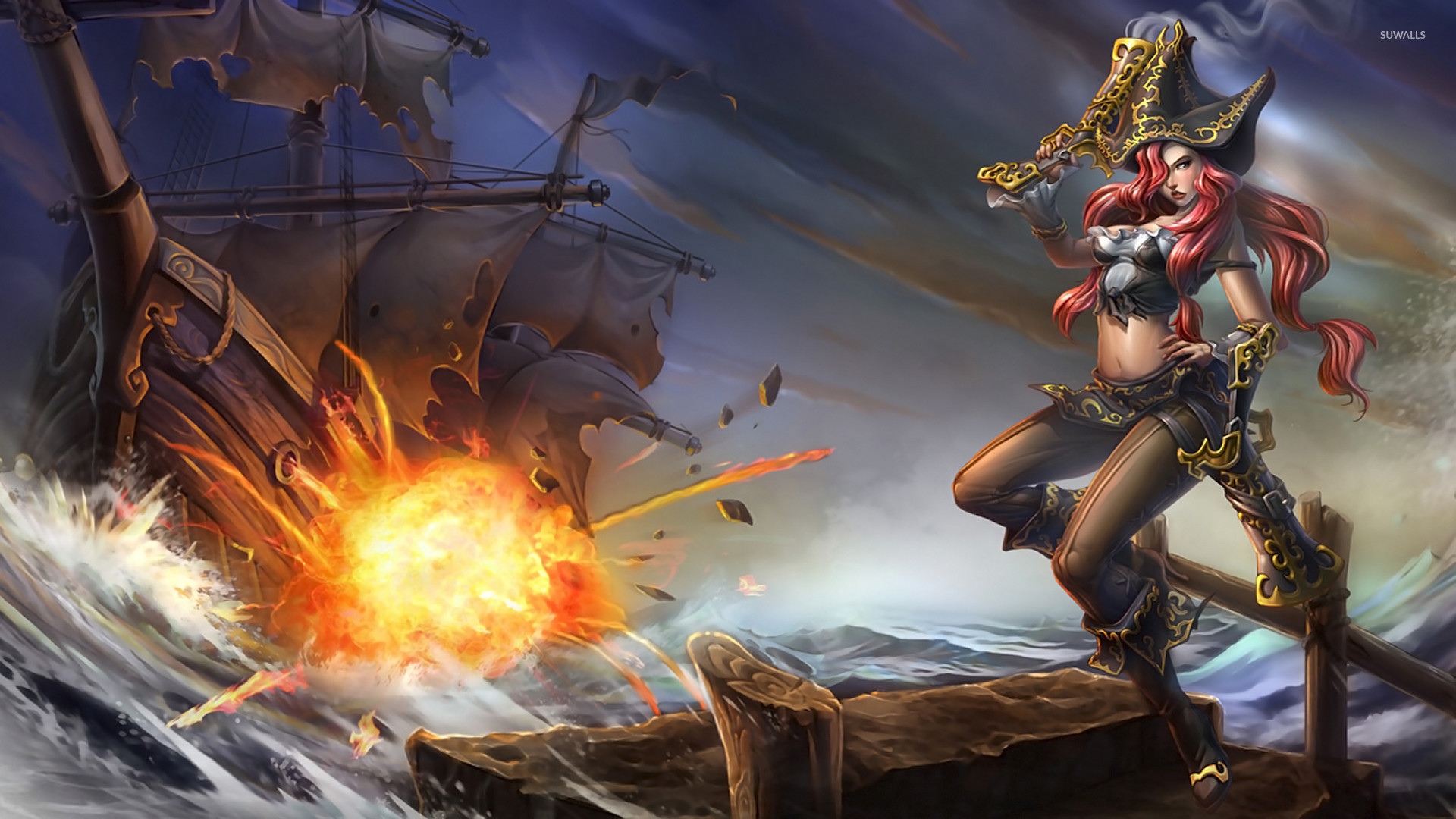 Res: 1920x1080, Miss Fortune, The Bounty Hunter - League of Legends wallpaper