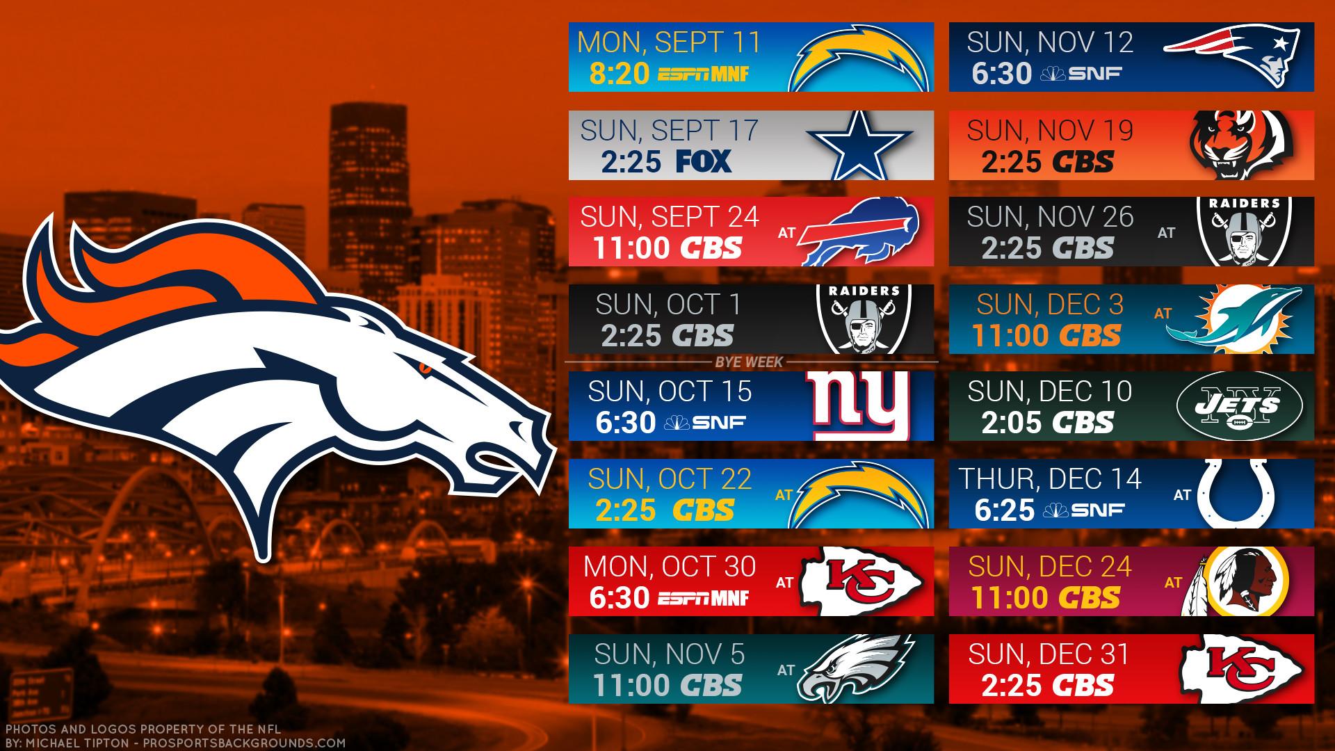 Res: 1920x1080, Denver Broncos 2017 schedule city football logo wallpaper free pc desktop  computer ...