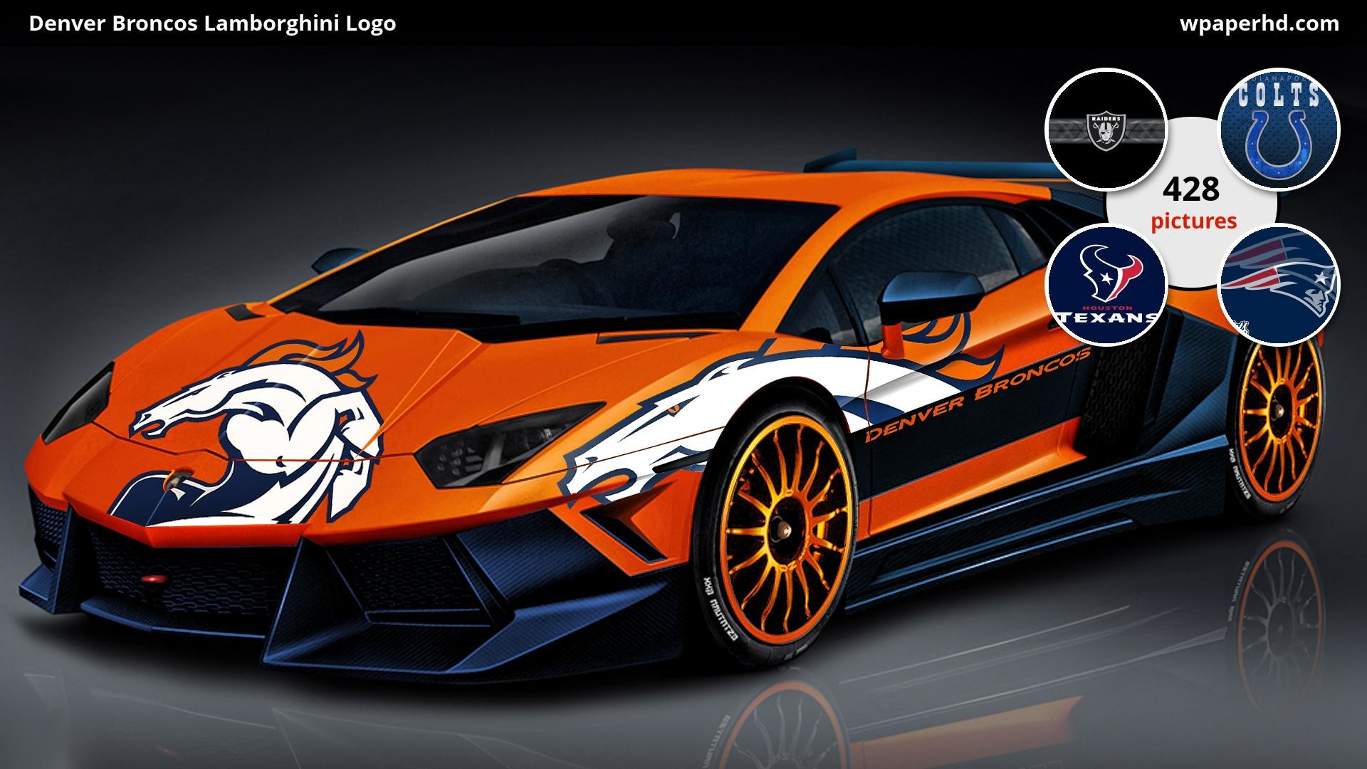 Res: 1920x1080, You are on page with Denver Broncos Lamborghini Logo wallpaper, where you  can download this picture in Original size and ...