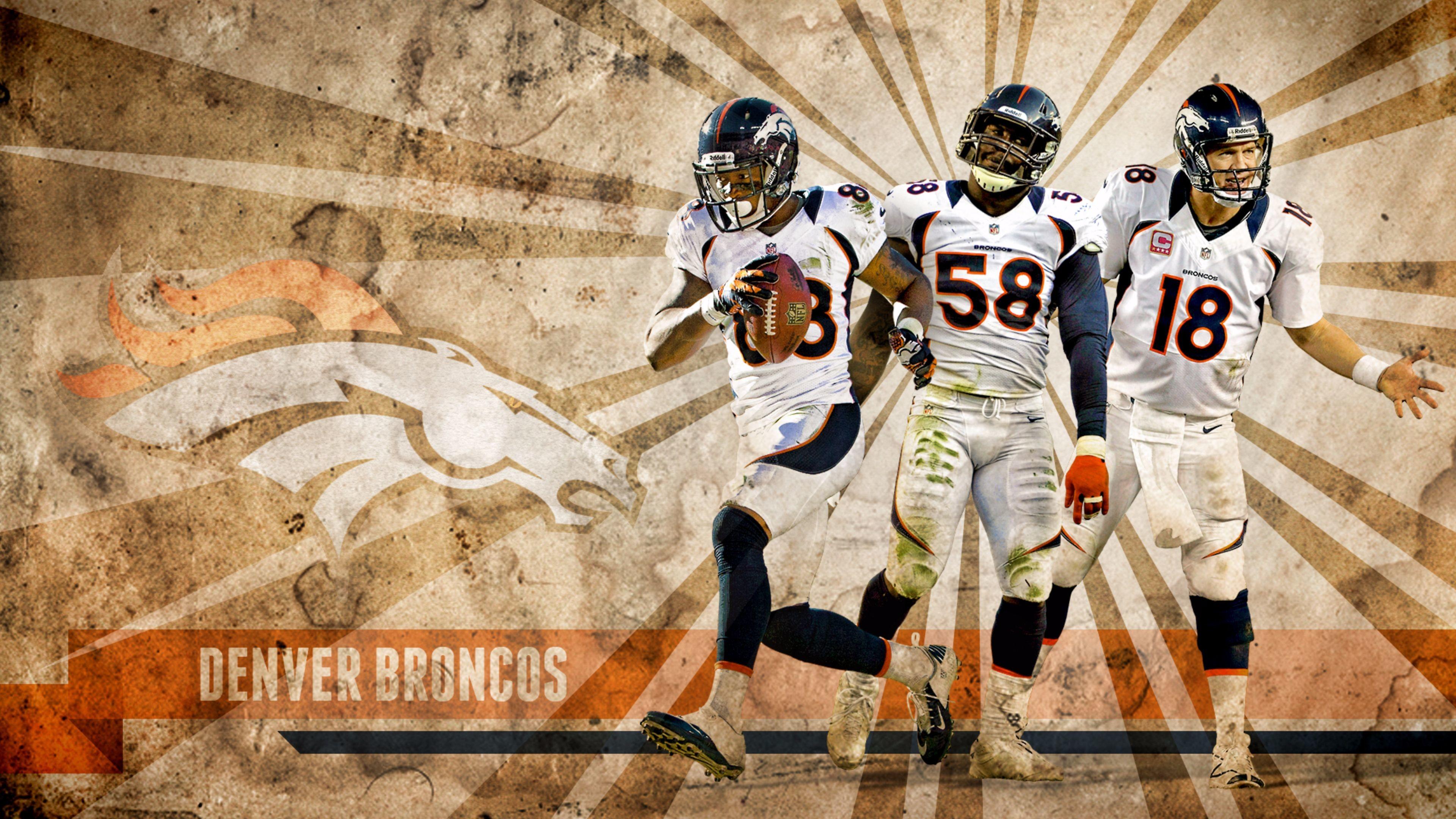 Res: 3840x2160, Cool Denver Broncos Peyton Manning 4K Wallpapers