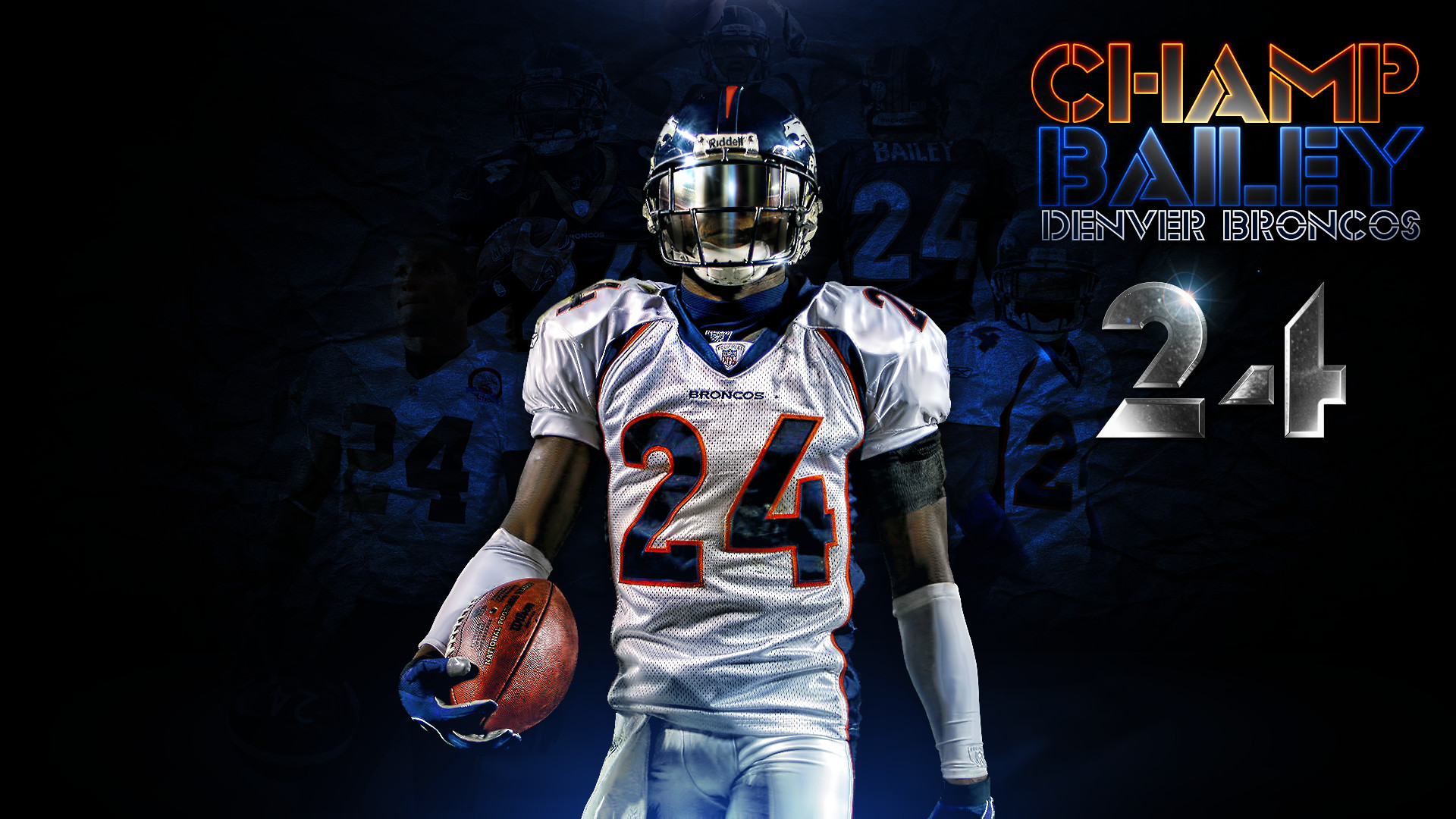 Res: 1920x1080, Champ Bailey Denver Broncos Wallpaper by DenverSportsWalls Champ Bailey Denver  Broncos Wallpaper by DenverSportsWalls