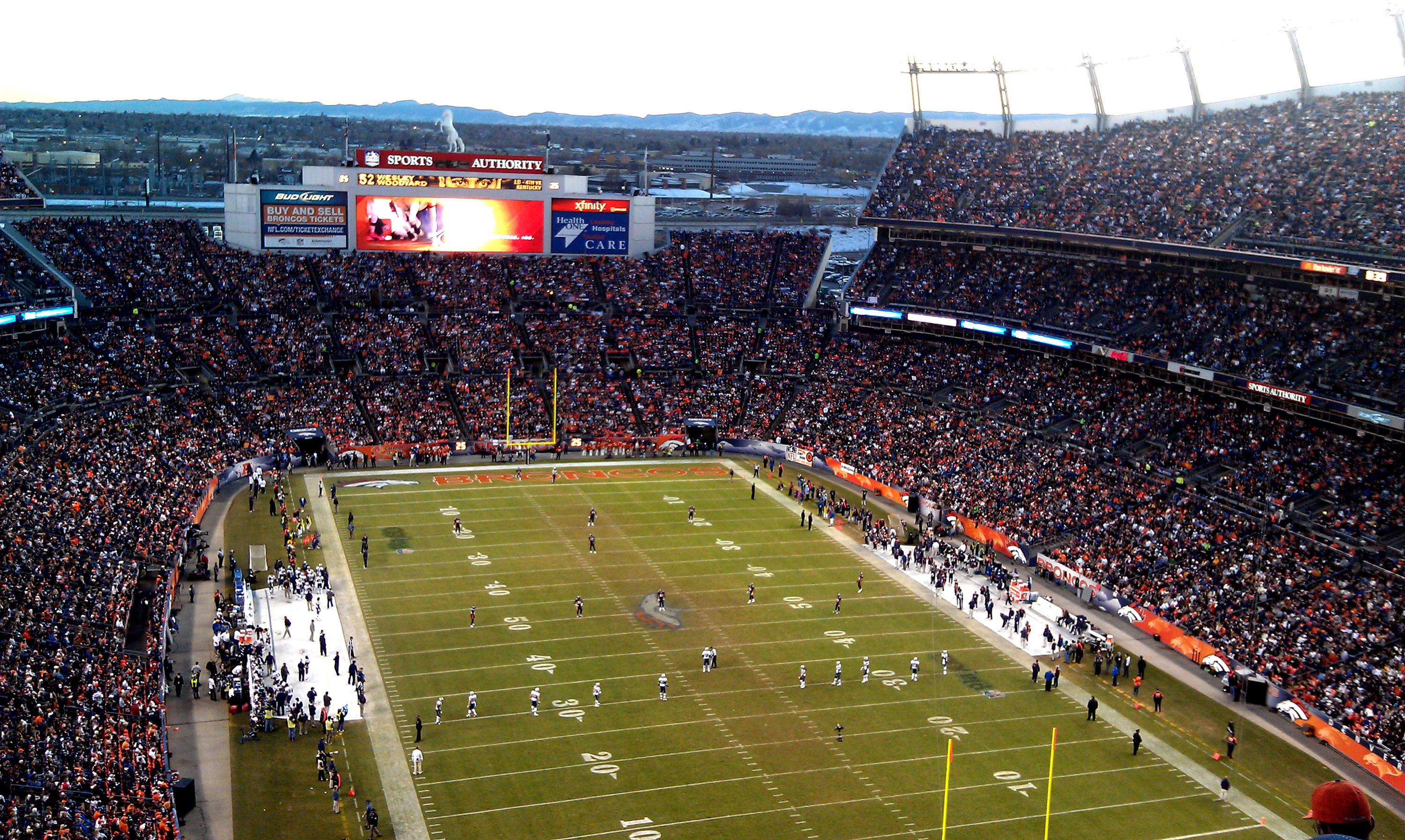 Res: 3000x1794, HD Wallpaper of Sports Authority Field At Mile High Stadium Of The Denver  Broncos Wallpaper Wallpapersnfl
