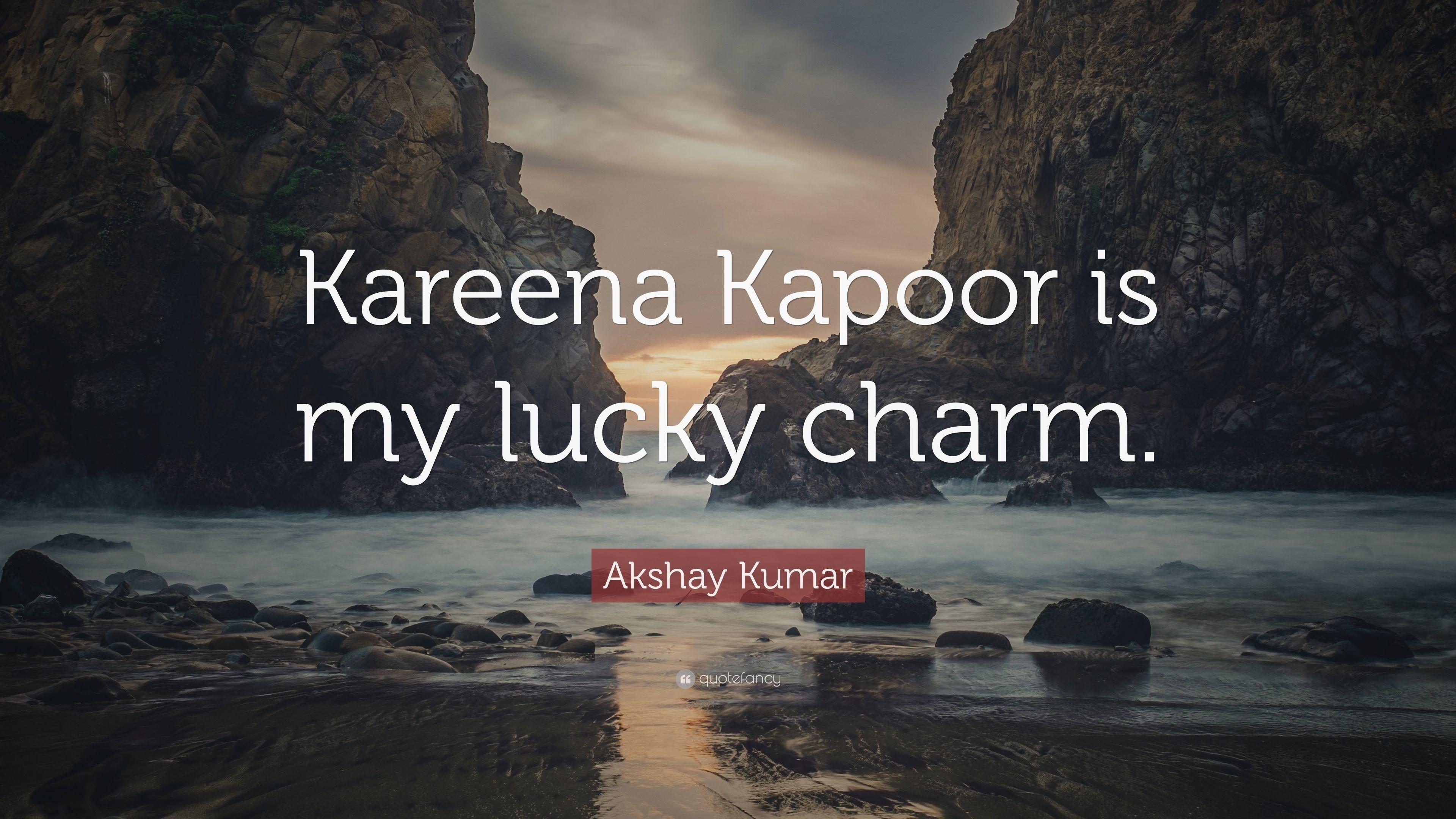"Res: 3840x2160, Akshay Kumar Quote: ""Kareena Kapoor is my lucky charm."""