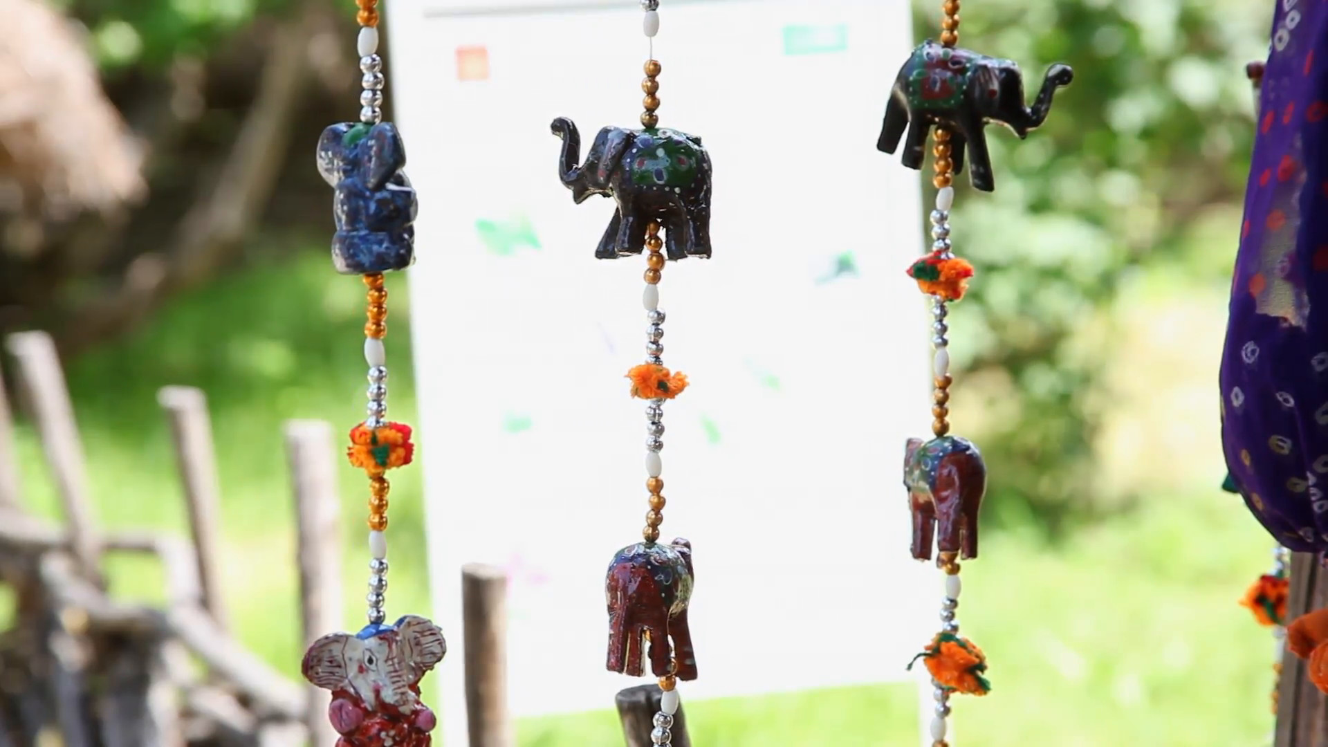 Res: 1920x1080, Elephant and beads good luck charm, amulet, Feng Shui, figurine, wind  chimes Stock Video Footage - Videoblocks