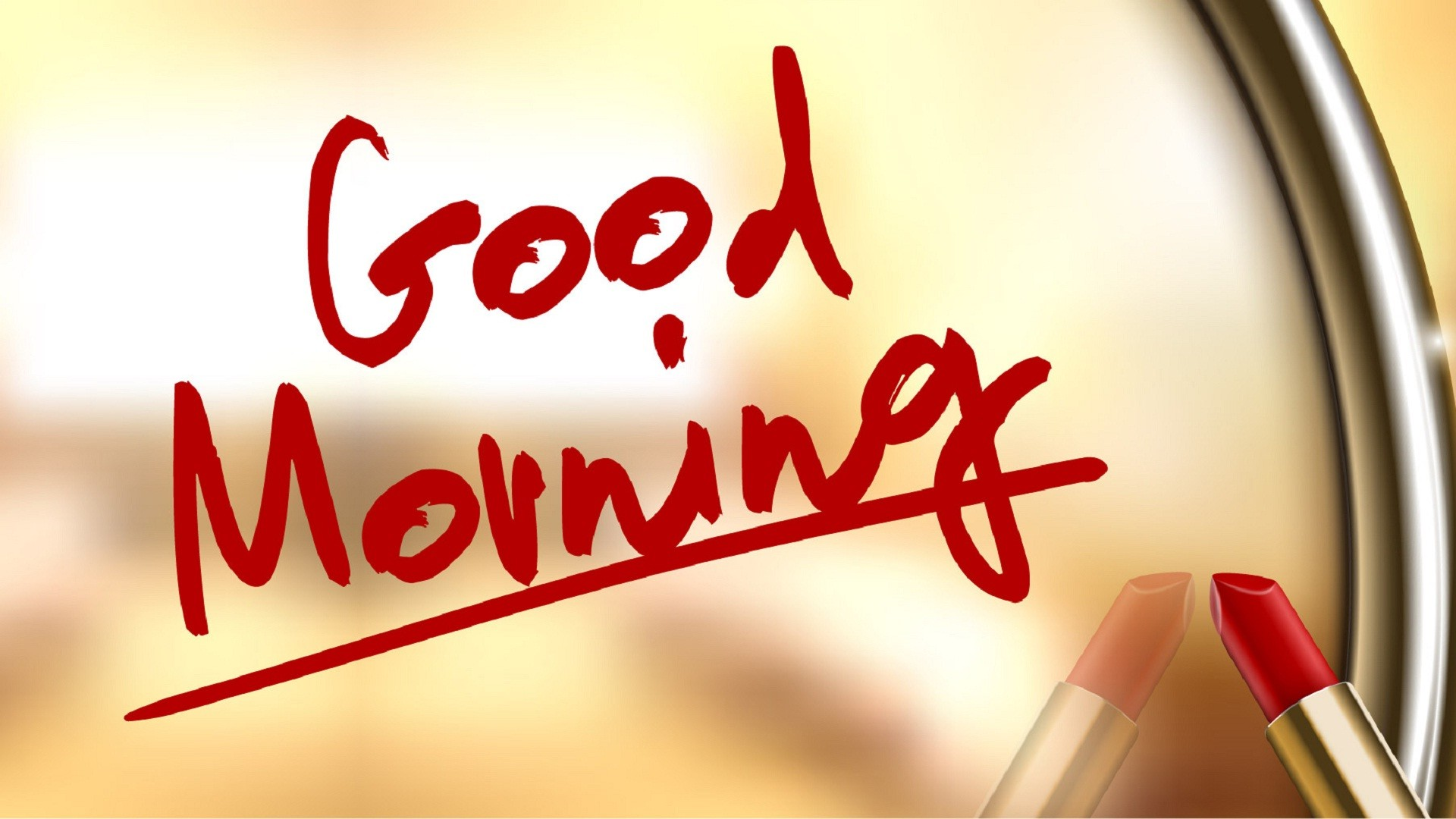 Res: 1920x1080, Good morning written by lipstick wallpapers