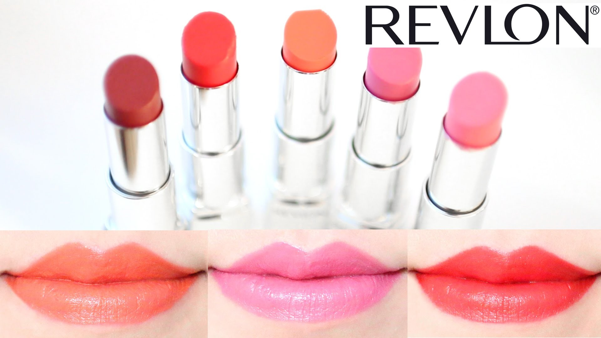 Res: 1920x1080, Revlon Ultra HD Lipstick Swatches on Lips 5 Shades