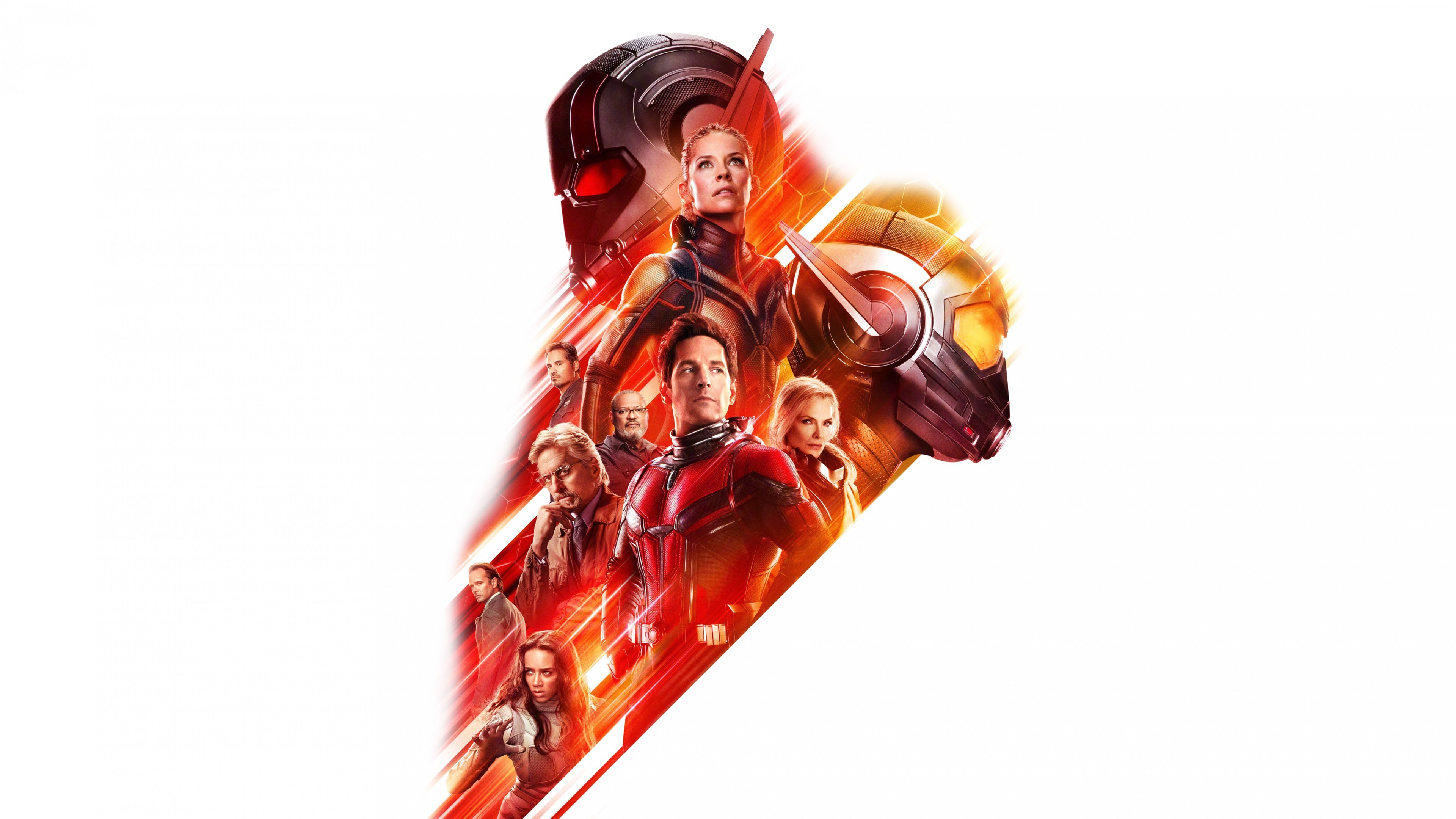 Res: 3840x2160, Ant-Man and the Wasp, Evangeline Lilly, Hannah John-Kamen, Michelle Pfeiffer,  4K, 8K