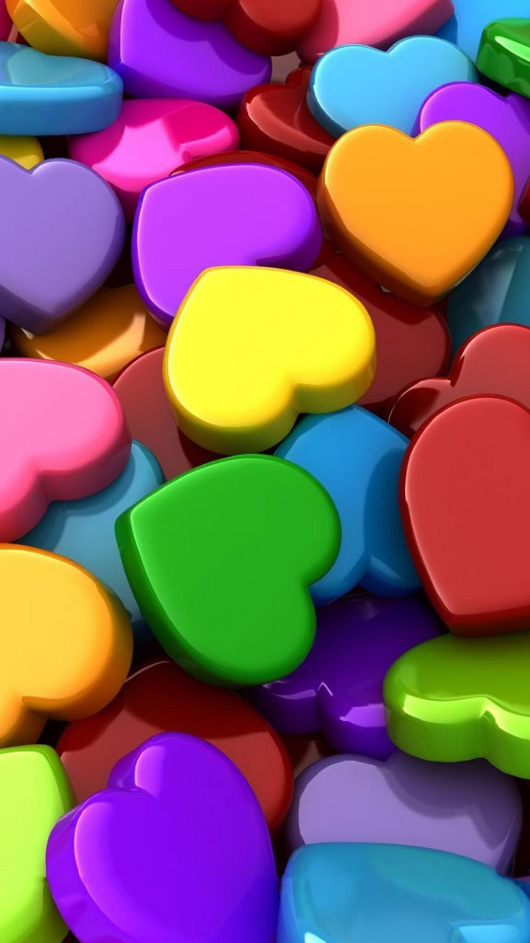 Res: 1080x1920, Cute Love Heart 3D Background for Android