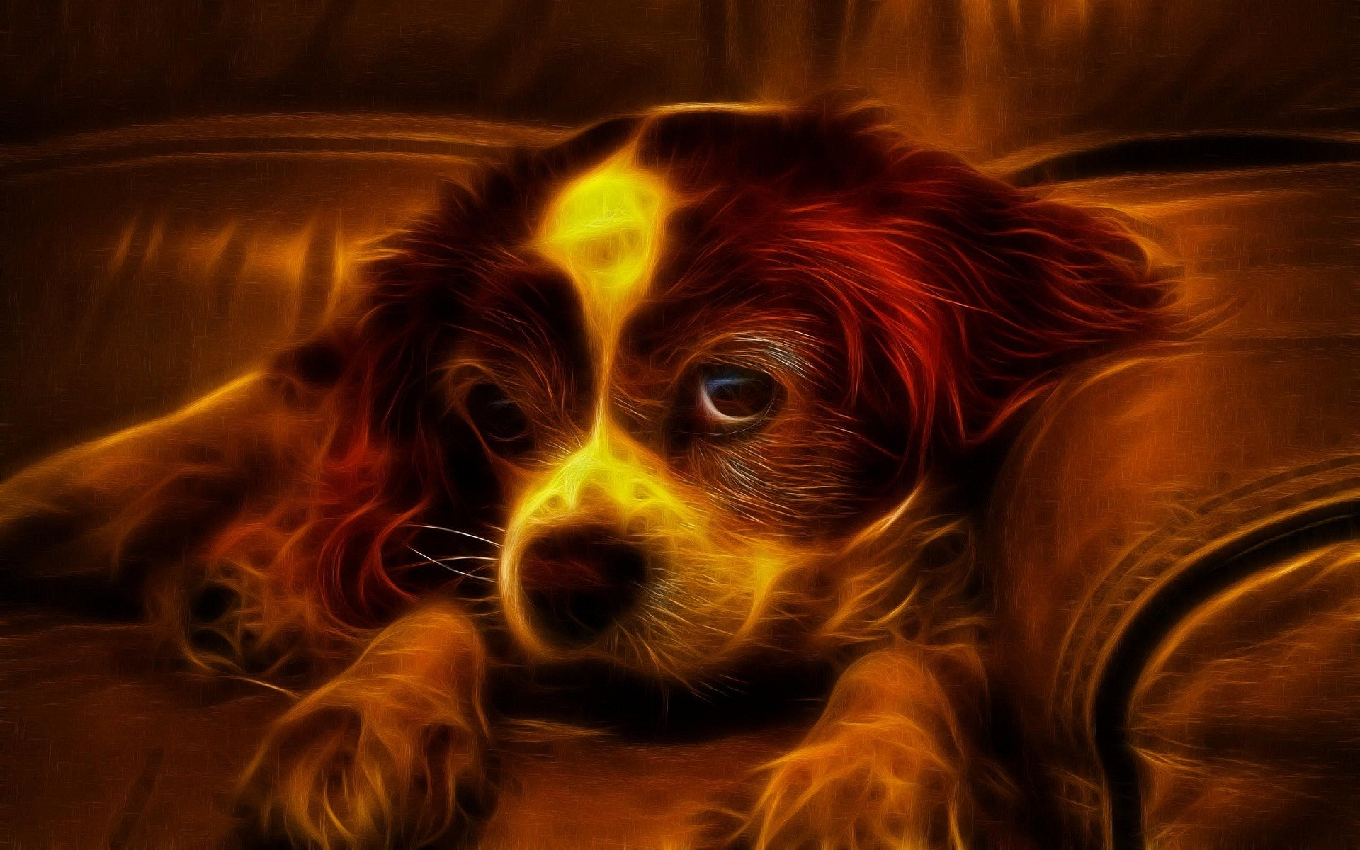 Res: 1920x1200, 3D cute puppy wallpapers