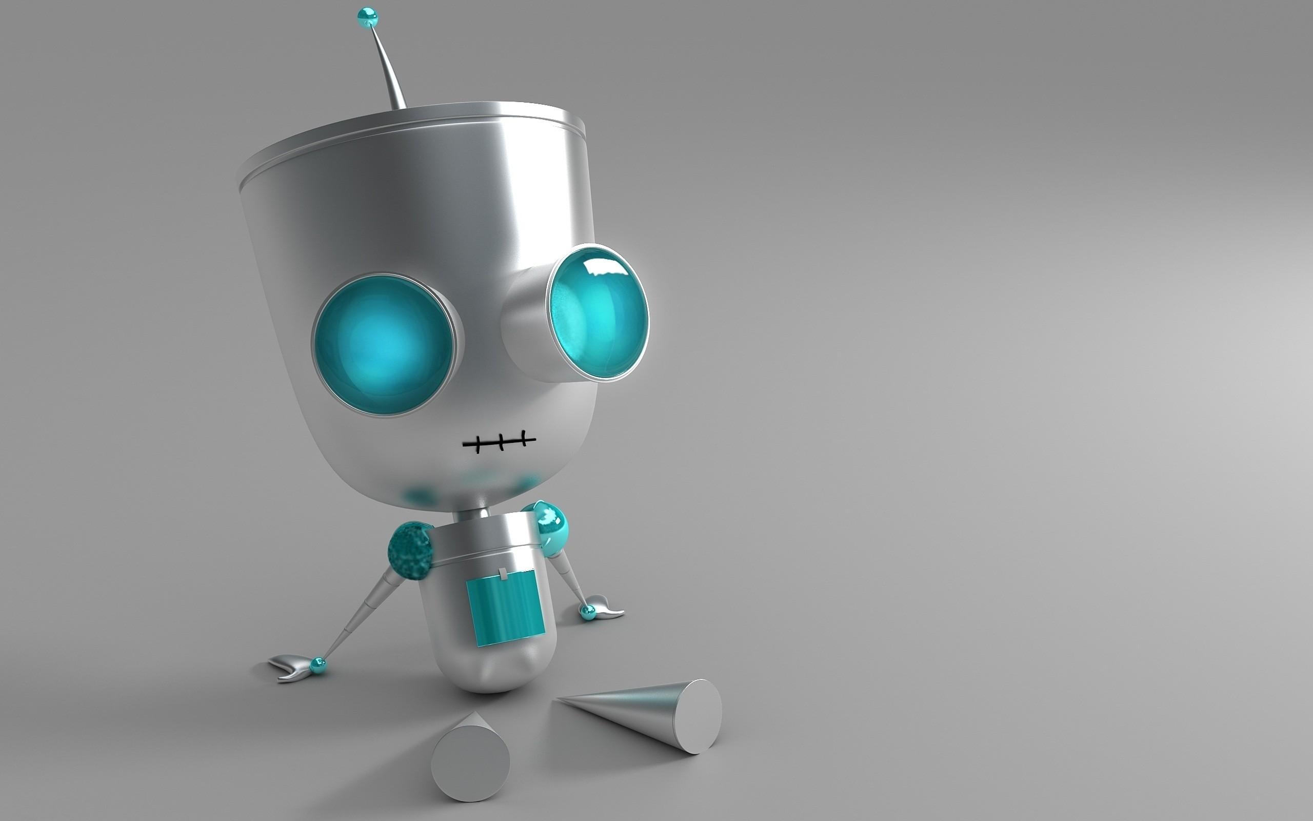 Res: 2560x1600, 3D Robot Wallpaper 2032
