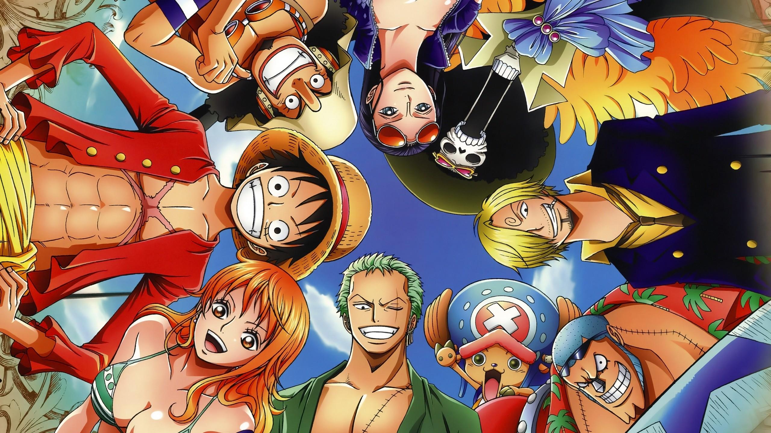 Res: 2560x1440, Anime - One Piece Franky (One Piece) Nami (One Piece) Zoro Roronoa