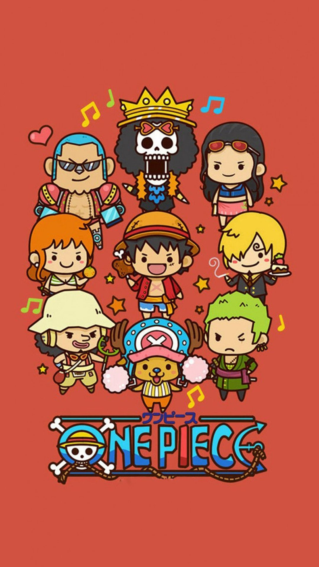 Res: 1080x1920, Cute Lovely One Piece Cartoon Poster iPhone 6 wallpaper