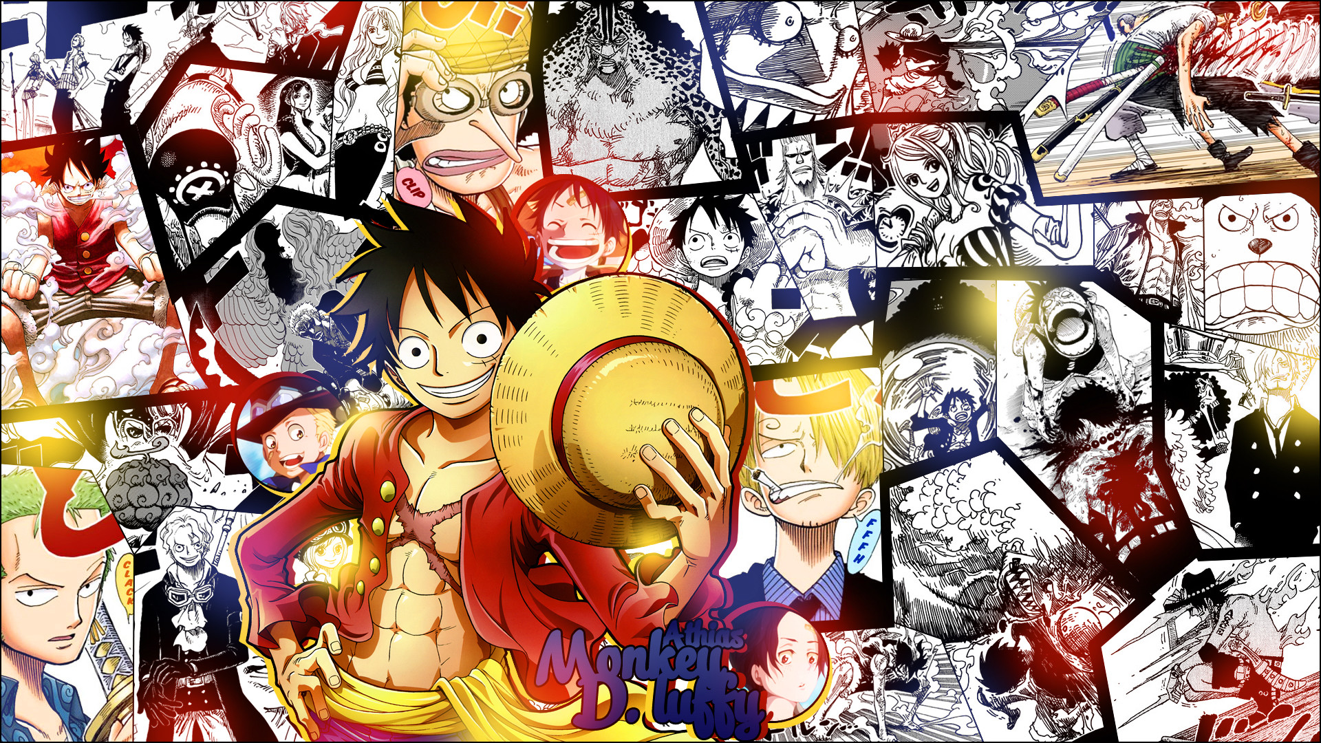 Res: 1920x1080, WALLPAPER - One Piece by Athias95 WALLPAPER - One Piece by Athias95