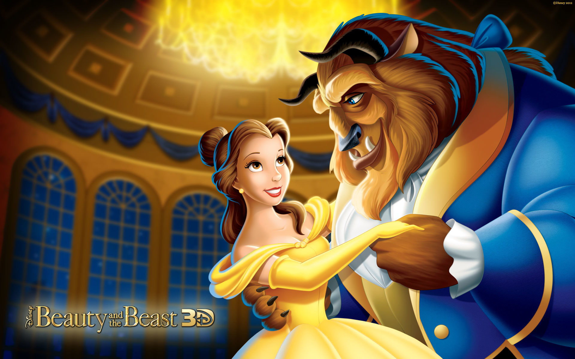 Res: 1920x1200, Disney Princess Belle And Beast