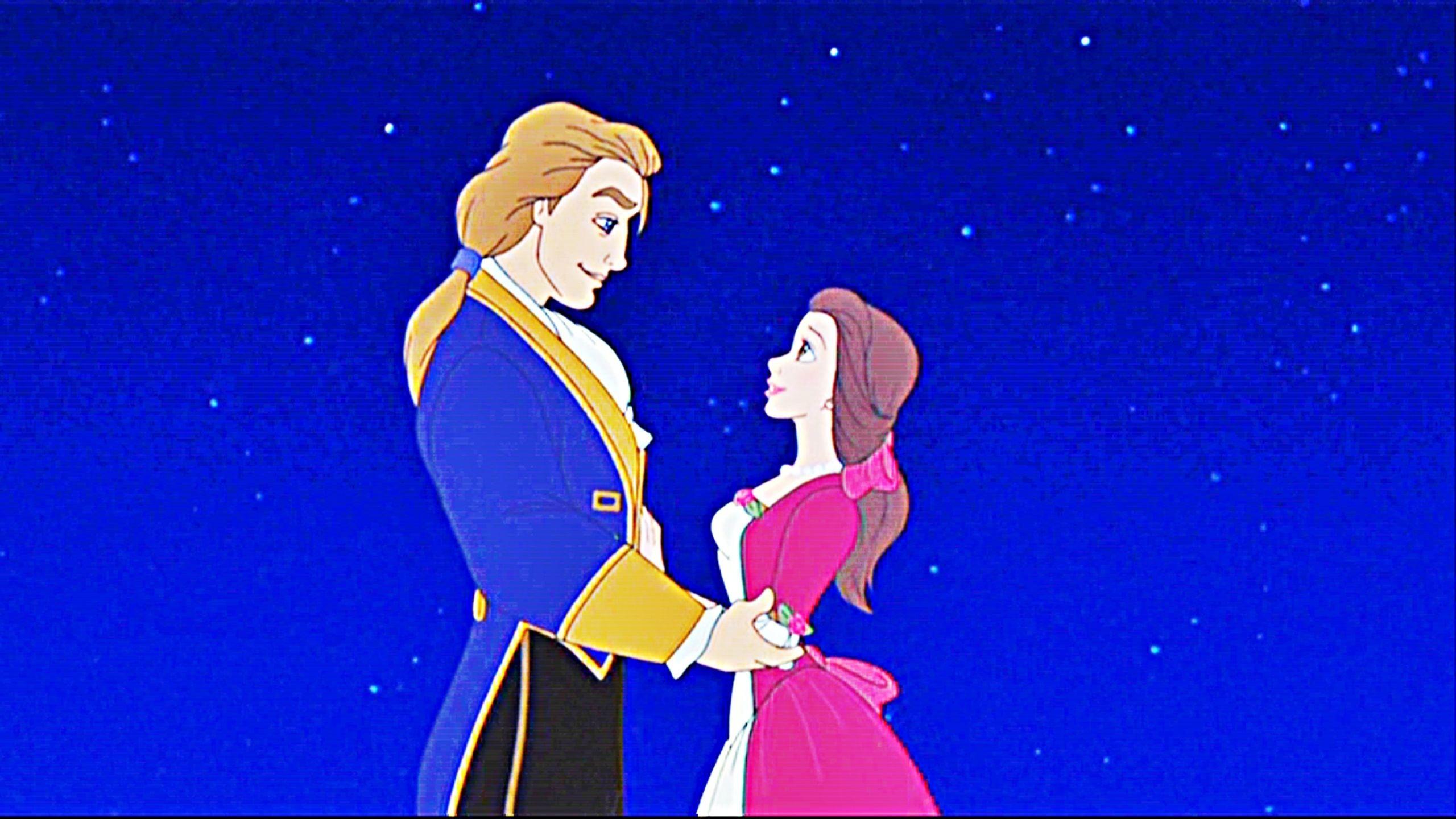 Res: 2560x1440, Princess Belle and Prince Adam | Disney-Princess-Prince-Adam-Princess-