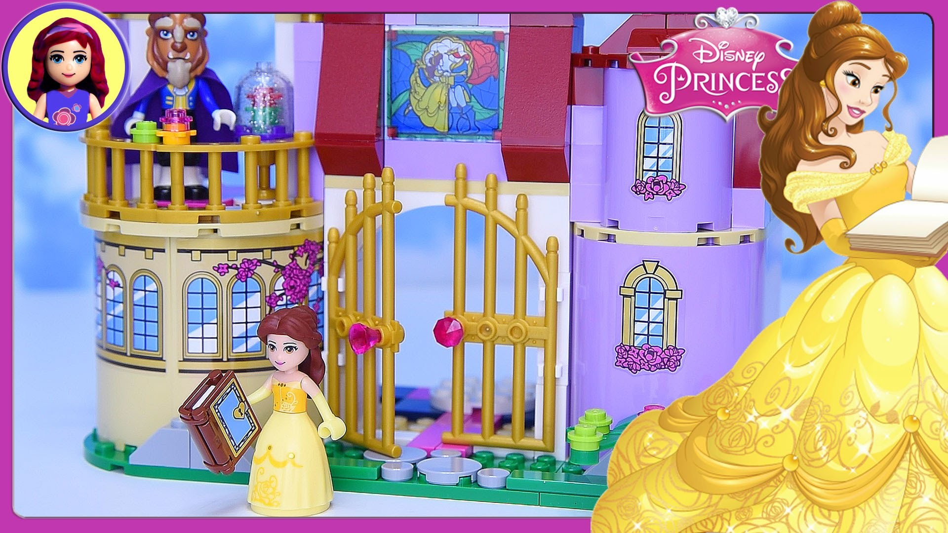 Res: 1920x1080, LEGO Disney Princess Belle's Enchanted Castle Set Build Review Silly Play -  Kids Toys - YouTube