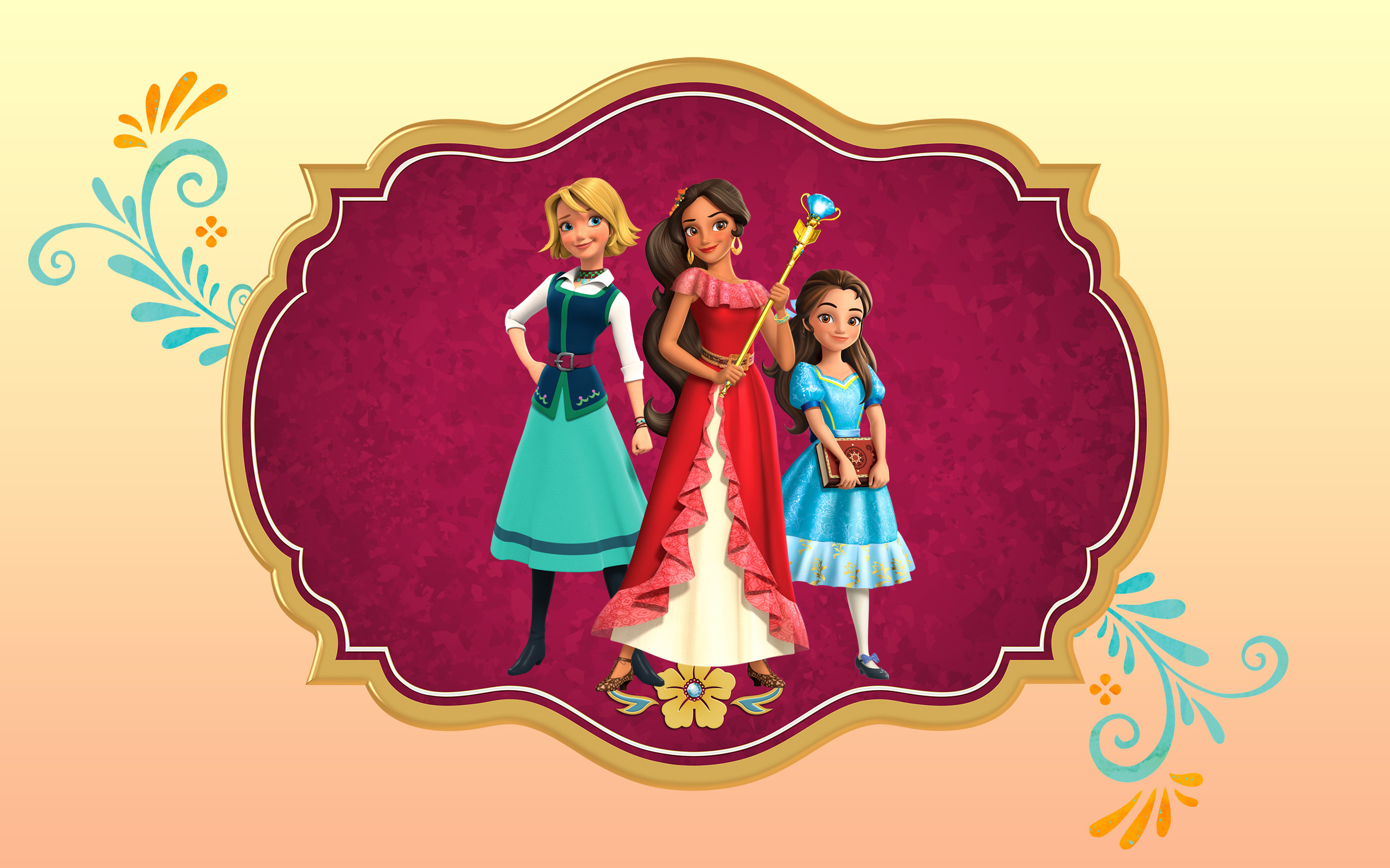 Res: 2560x1600, Elena of Avalor big wallpaper with princess Elena, isabel and Naomi