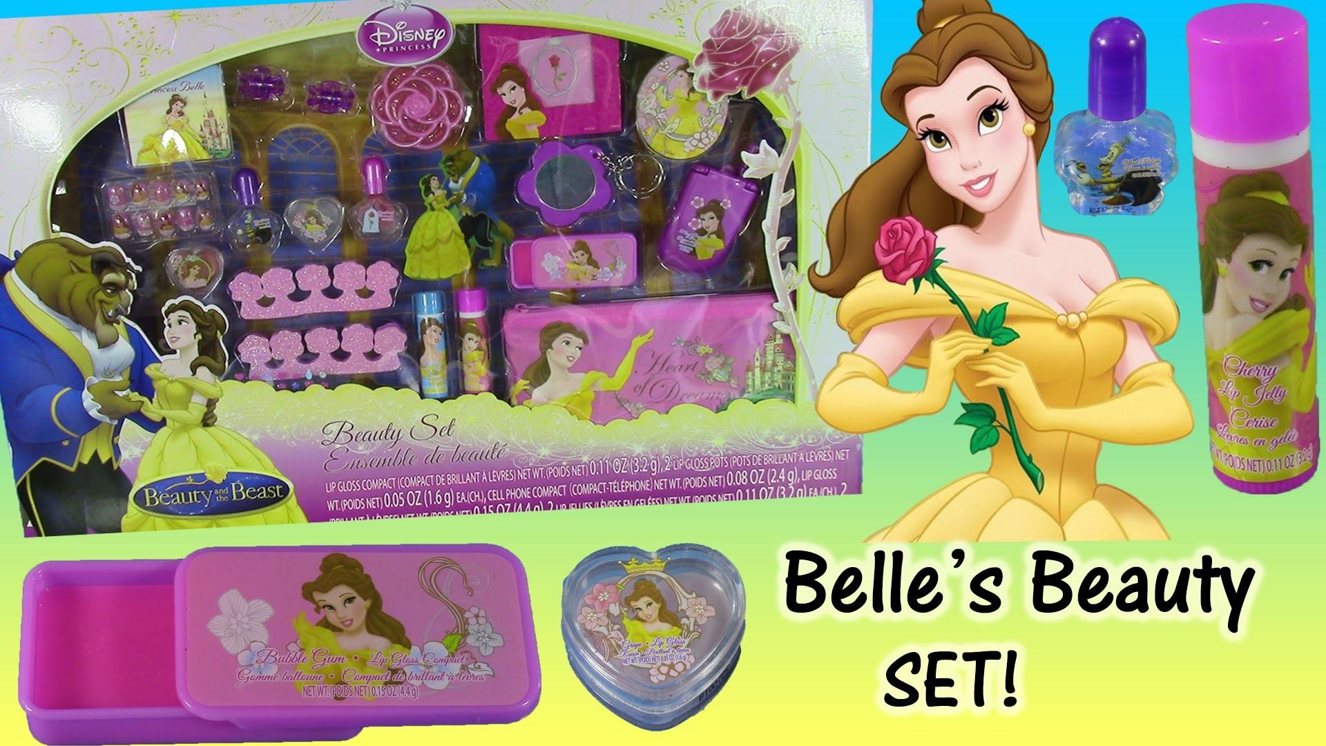 Res: 1920x1080, Belle Beauty & The Beast Jumbo Beauty Set! Disney Princess Belle Lip Gloss  Nail Polish Cosmetics! - YouTube