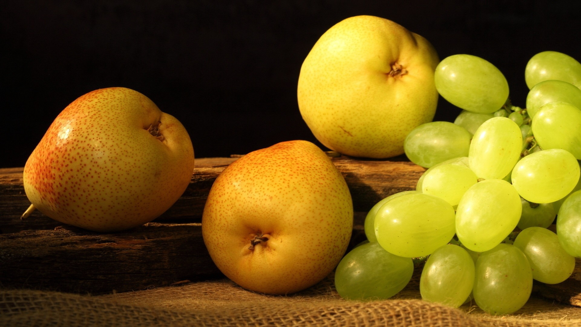 Res: 1920x1080,  Wallpaper pears, grapes, fruit