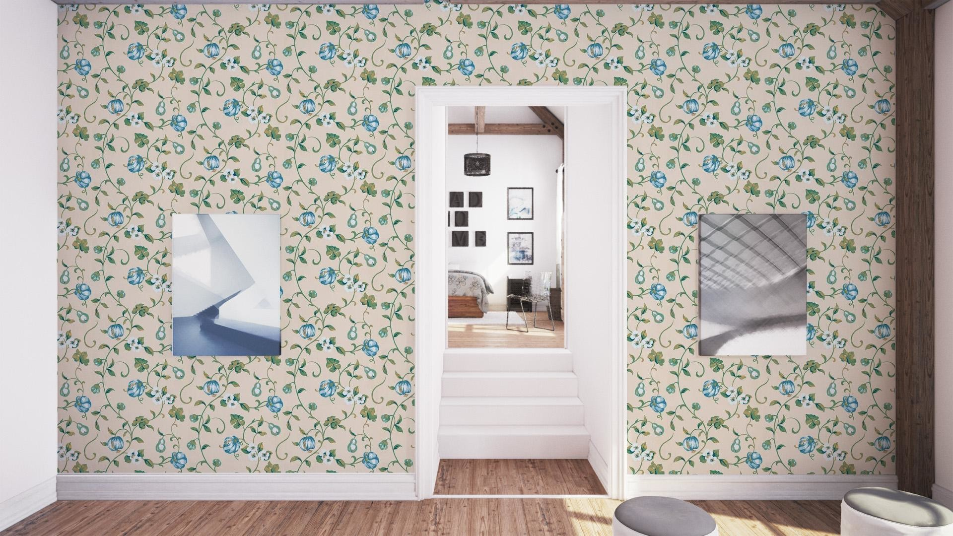 Res: 1920x1080, ... Sanderson Wallpaper A Painters Garden Pear and Pomegranate Collection  DAPGPO101 - Thumb ...