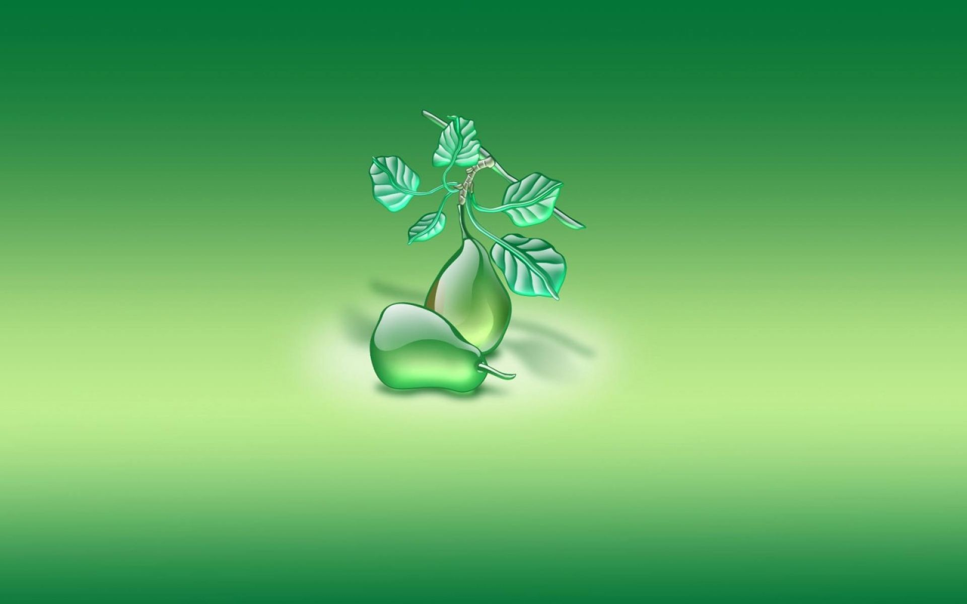 Res: 1920x1200, 3D Pear and Leafs Digital Art Wallpaper | HD 3D and Abstract Wallpaper Free  Download ...