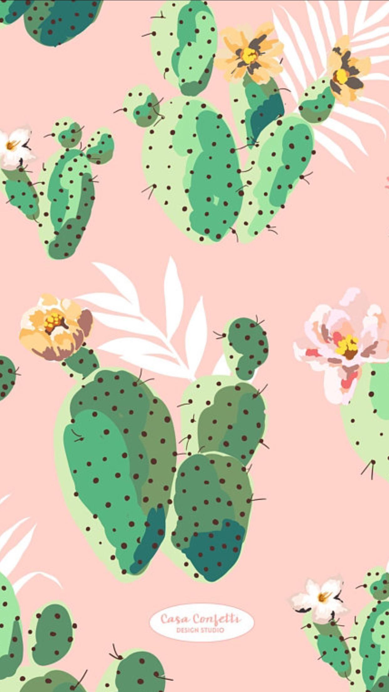 Res: 1242x2208, Summer Wallpaper, Wallpaper S, Cellphone Wallpaper, Wallpaper Patterns,  Wallpaper Backgrounds, Iphone Wallpapers, Aesthetic Wallpapers, Cactus  Painting, ...