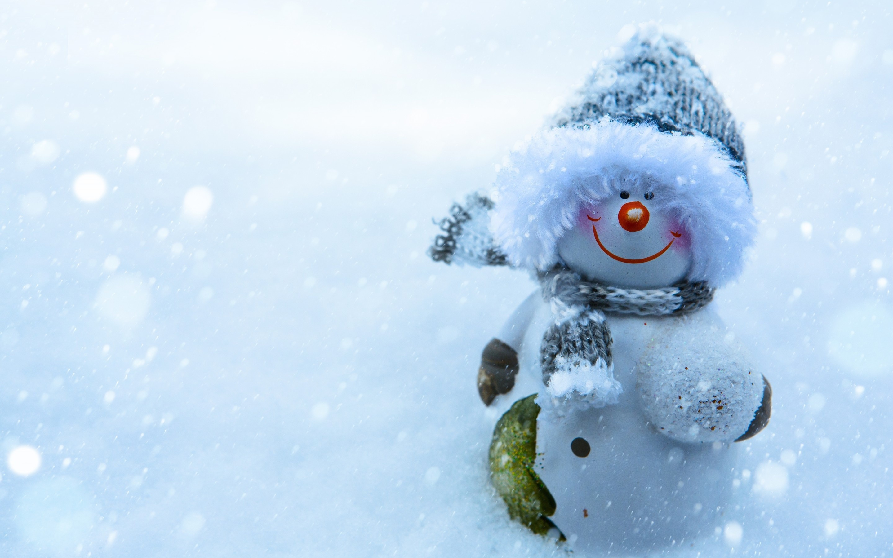 Res: 2880x1800, Snowman Widescreen Wallpaper 52518
