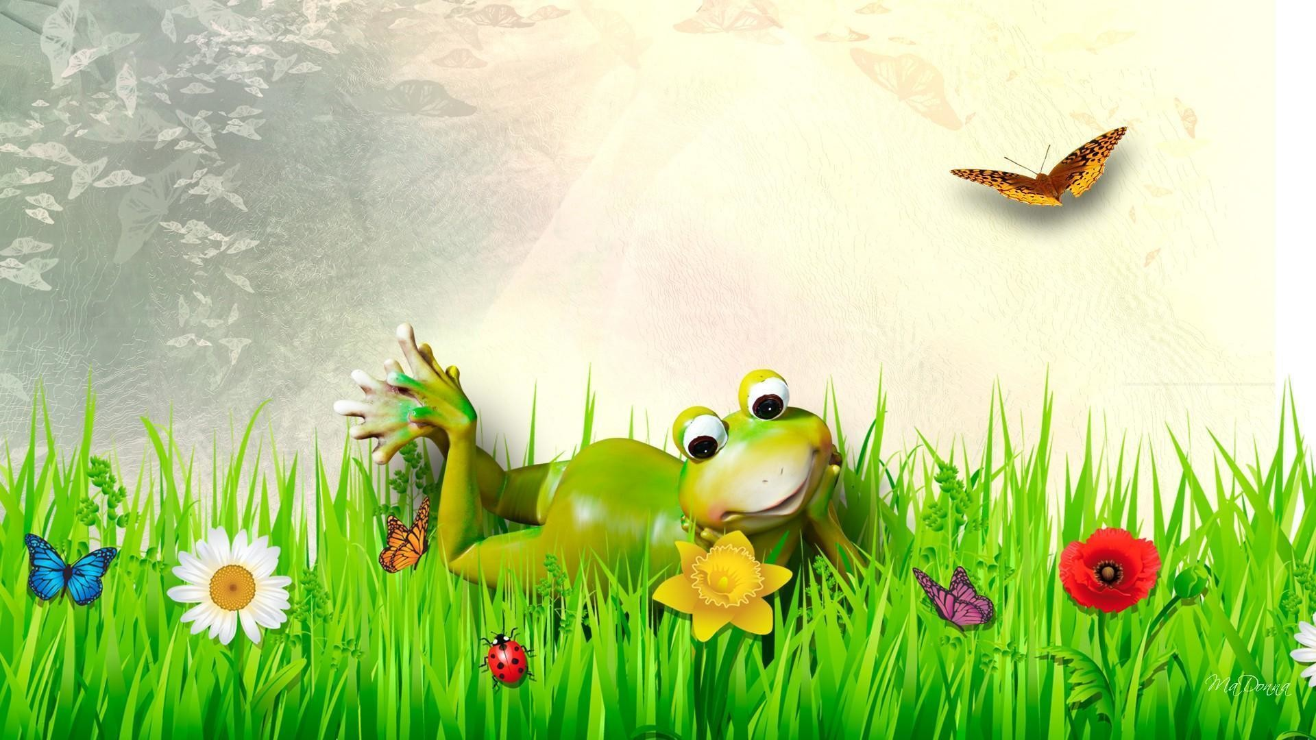 Res: 1920x1080, HD Fine Froggy Spring Day Wallpaper