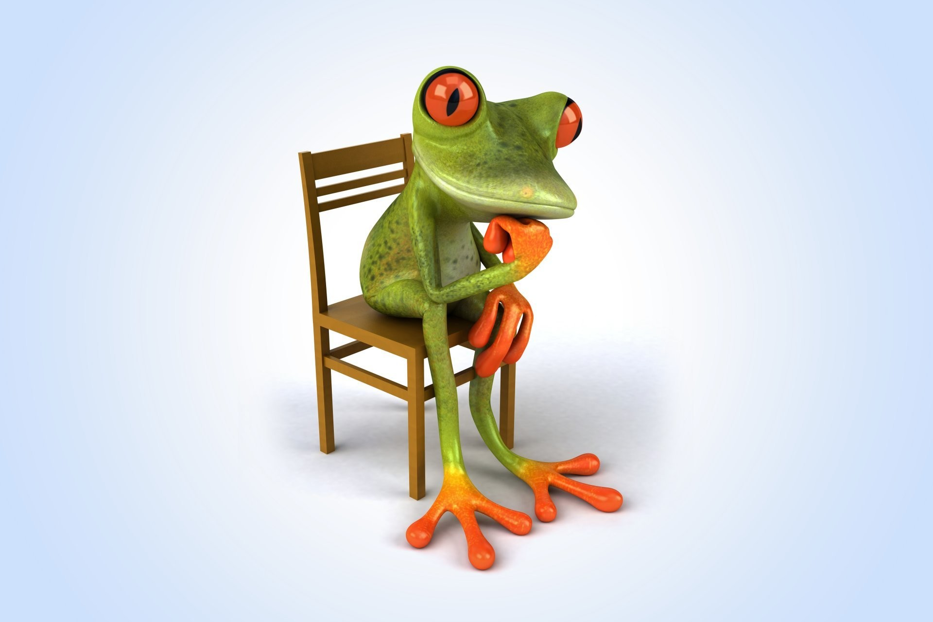Res: 1920x1280, 3d funny frog