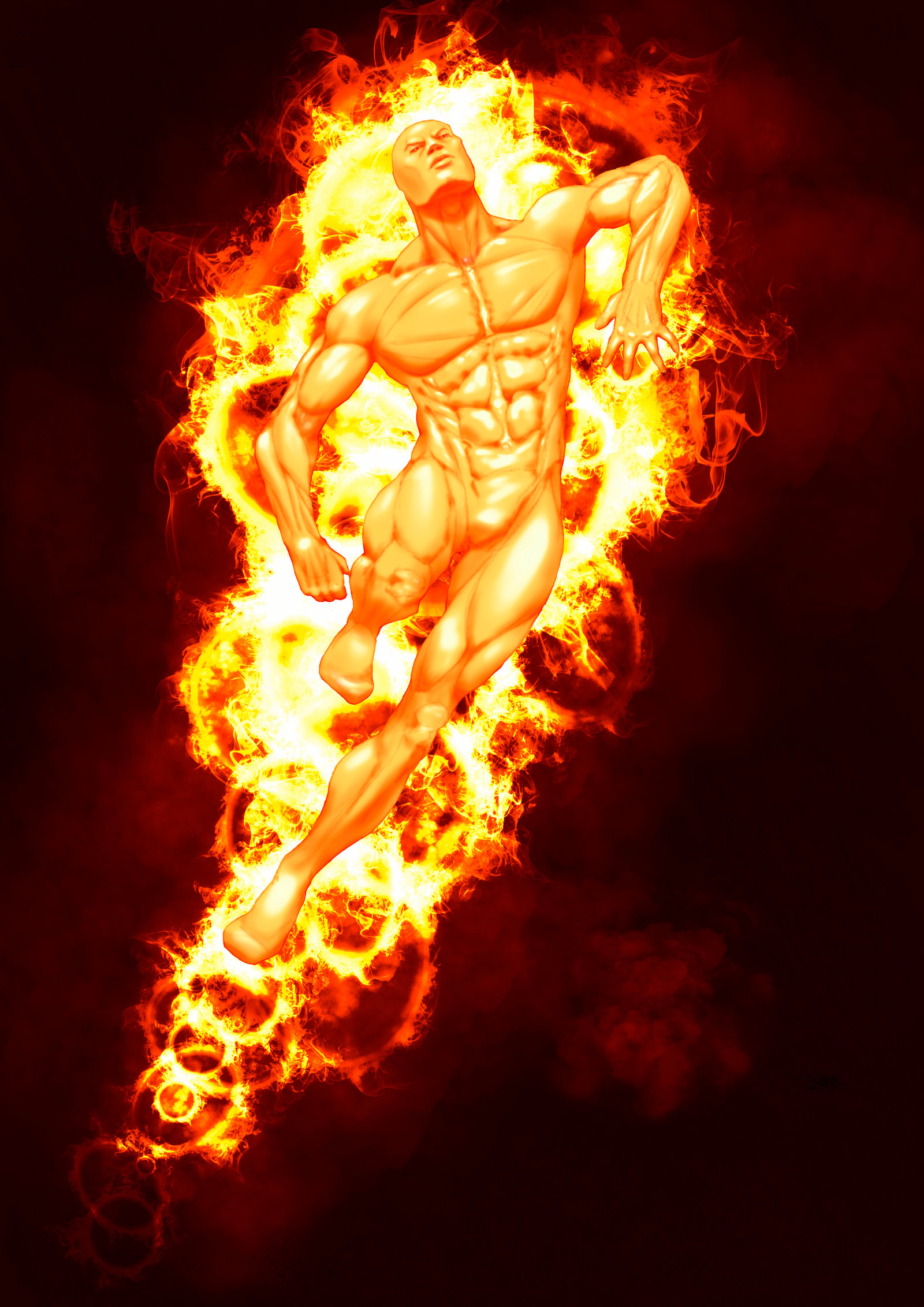 Res: 1600x2263, Human Torch by LUWY Human Torch by LUWY
