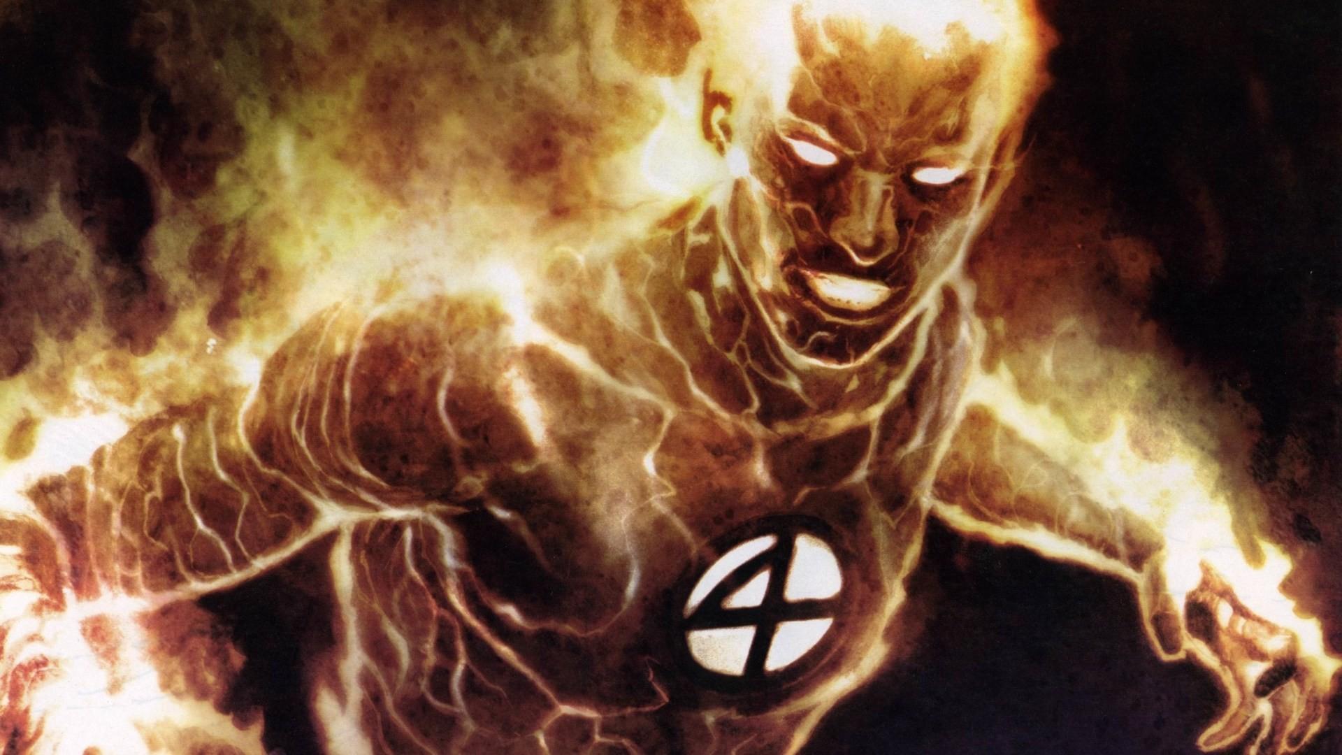 Res: 1920x1080, Superhero Marvel Human Torch (Johnny Storm) Fantastic Four 1080p HD  Wallpaper Background
