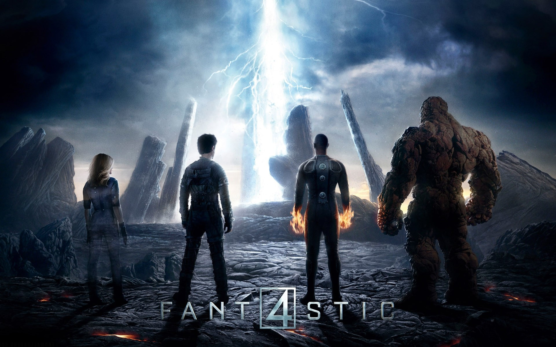 Res: 1920x1200, fantastic-four-2015-movie-poster-wallpaper-thing-human-torch -mr-fantastic-invisible-woman