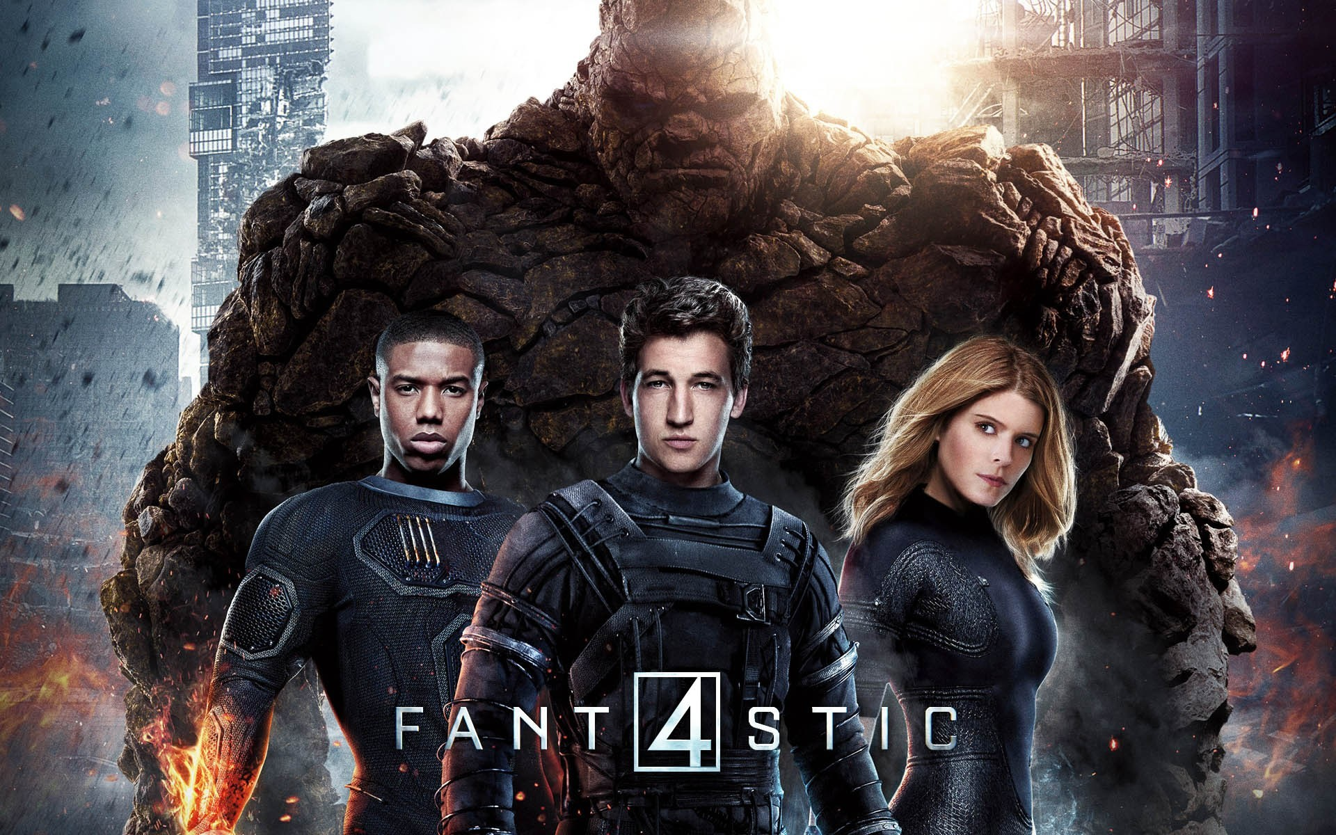 Res: 1920x1200, fantastic-four-2015-wallpaper-movie-poster-thing-human-torch -mr-fantastic-invisible-woman
