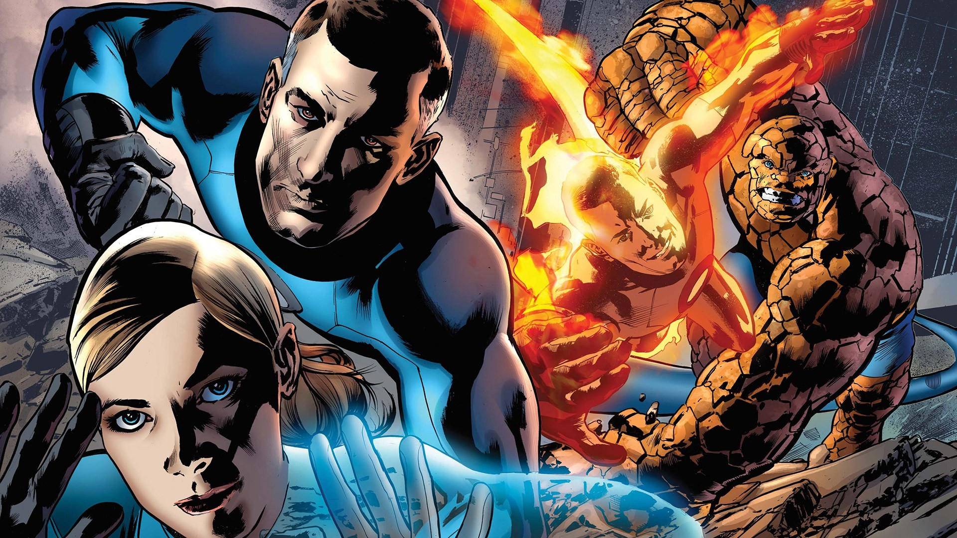 Res: 1920x1080, The Thing (Benjamin Grimm) Superhero Mister Fantastic (Reed Richards)  Marvel Invisible Woman