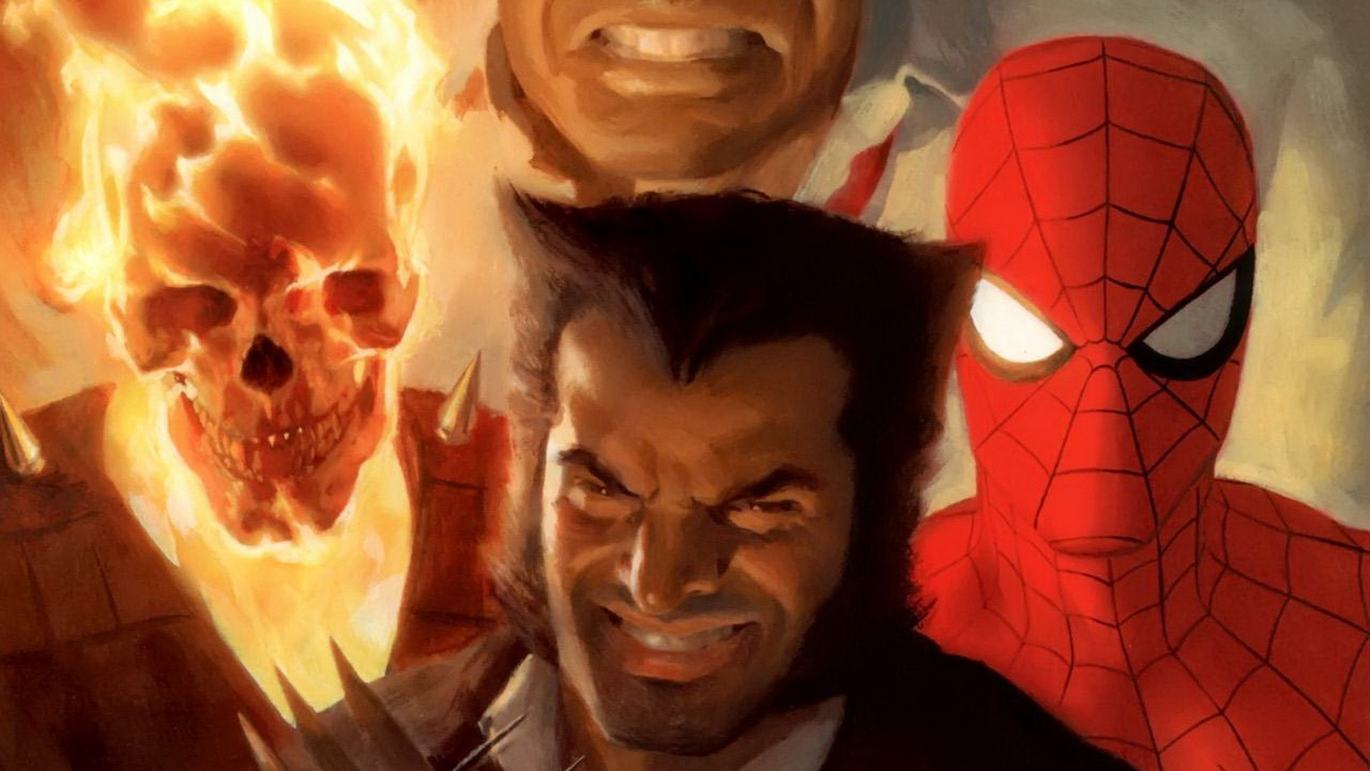 Res: 1920x1080, comics, Wolverine, Spider Man, Ghost Rider Wallpapers HD / Desktop and  Mobile Backgrounds