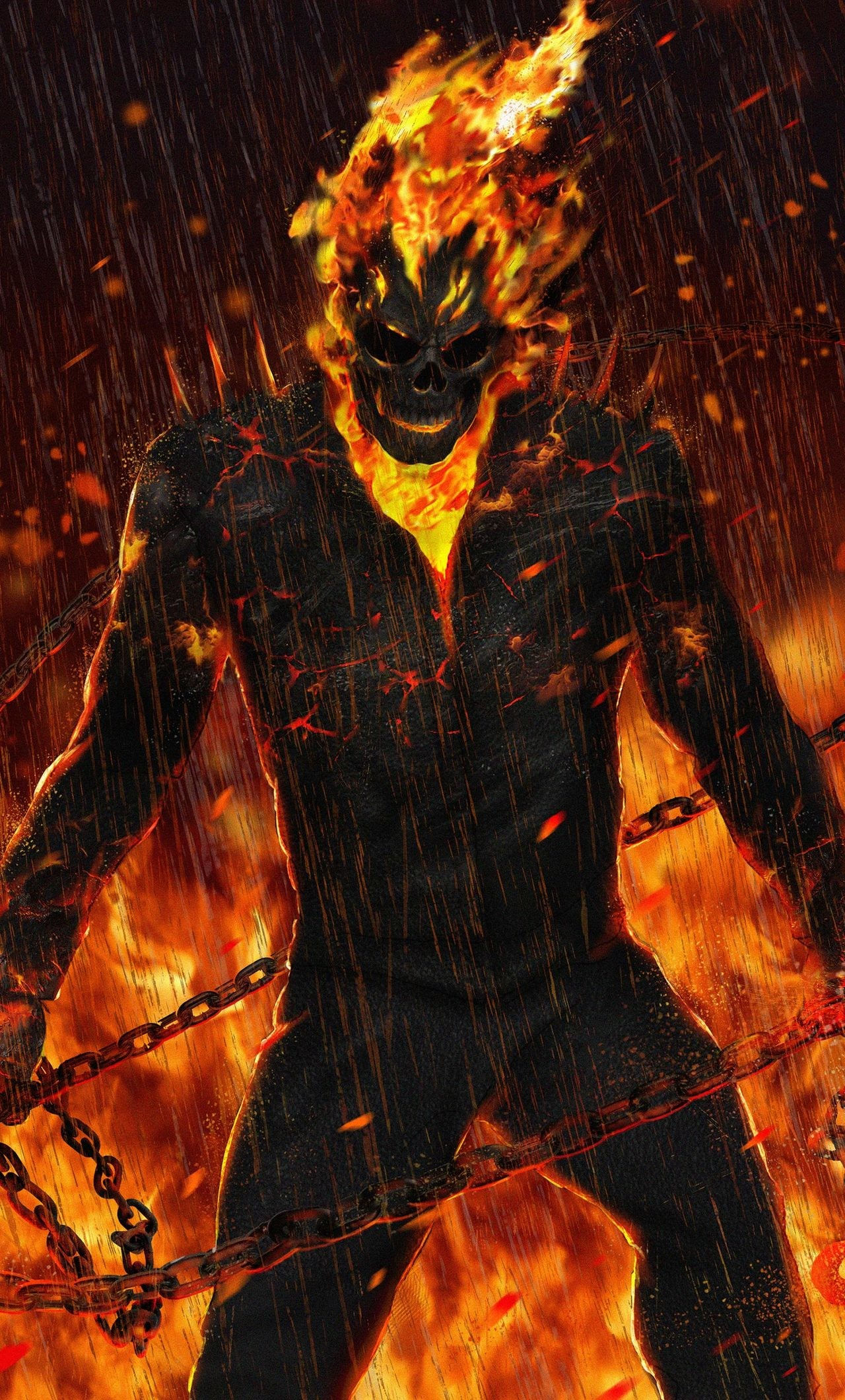 Res: 1280x2120,  Ghost Rider Artwork HD iPhone 6+ HD 4k Wallpapers, Images,  Backgrounds, Photos and Pictures
