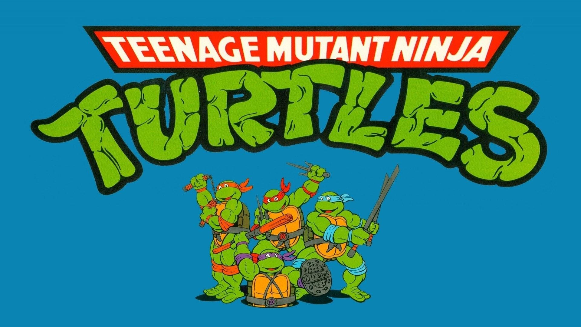 Res: 1920x1080, blue background, Teenage Mutant Ninja Turtles