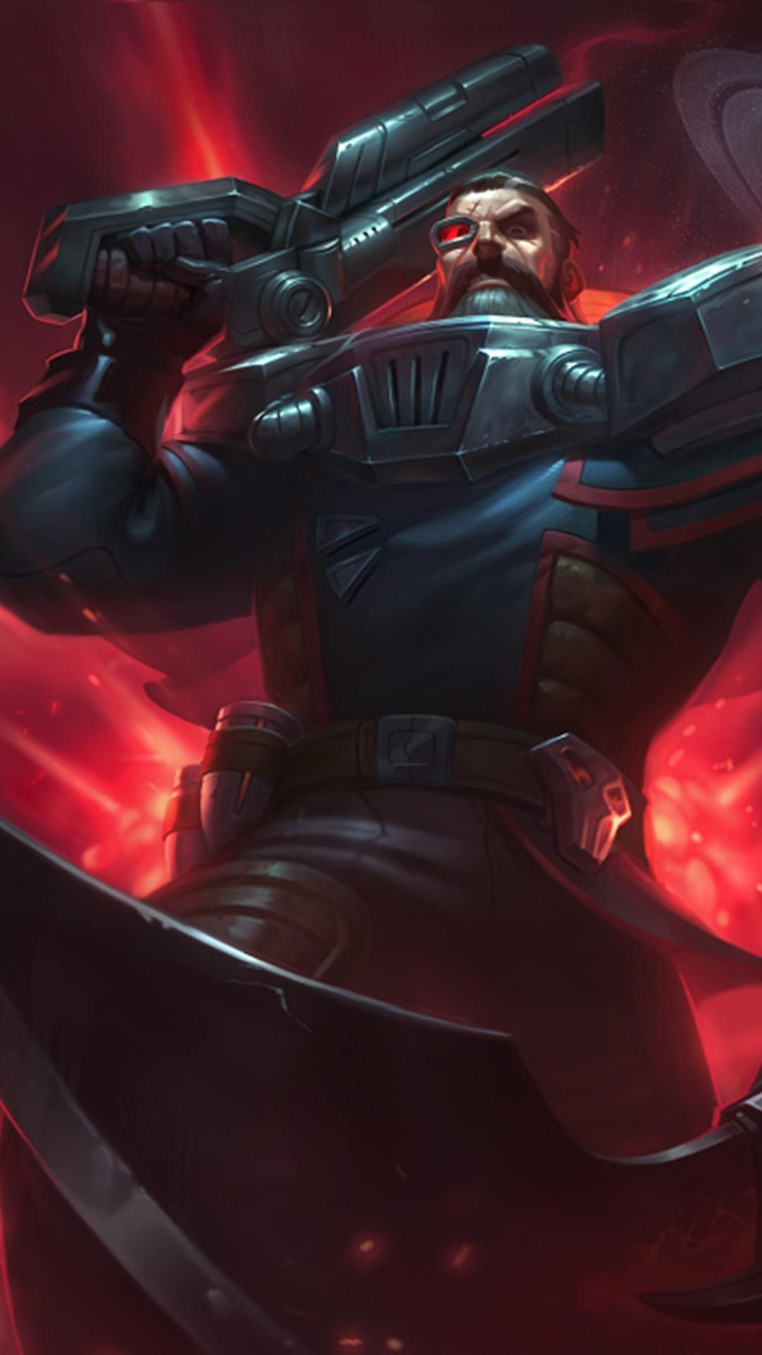 Res: 1080x1920, Dreadnova Gangplank Skin android, iphone wallpaper, mobile background