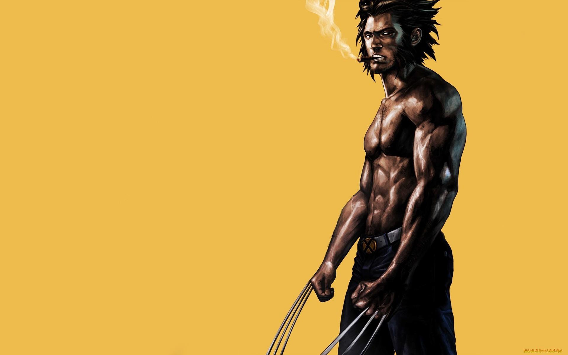 Res: 1920x1200, Wolverine Marvel Drawing Smoking Cigar wallpaper  74666