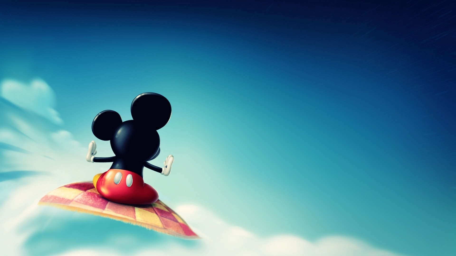Res: 1920x1080,  Wallpaper mickey mouse, fly, sky, toon