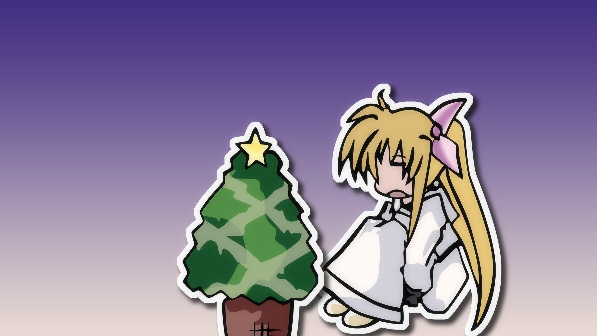 Res: 1920x1080, Download Anime HD Wallpapers Background Image magical girl lyrical nanoha  toon christmas tree 49620